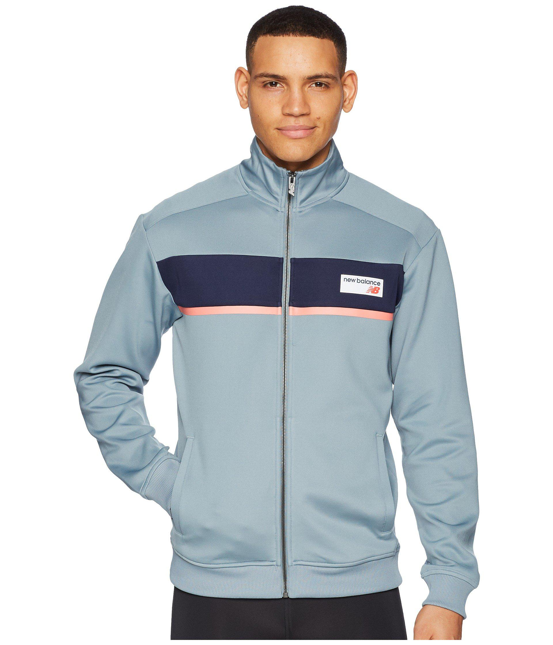 ebd70858fe765 New Balance Nb Athletics Track Jacket in Blue for Men - Lyst