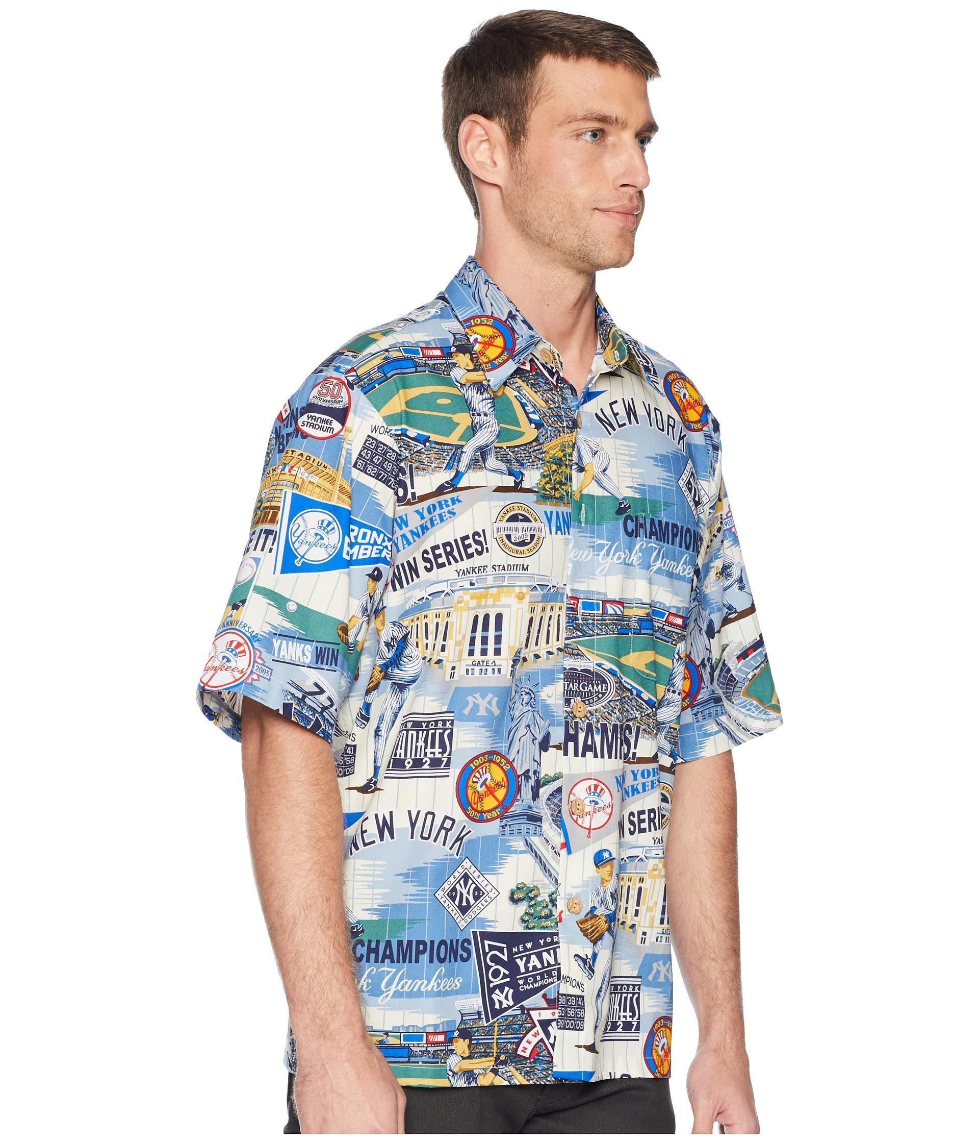 6fa57e66 Reyn Spooner New York Yankees Classic Fit Hawaiian Shirt in Blue for ...