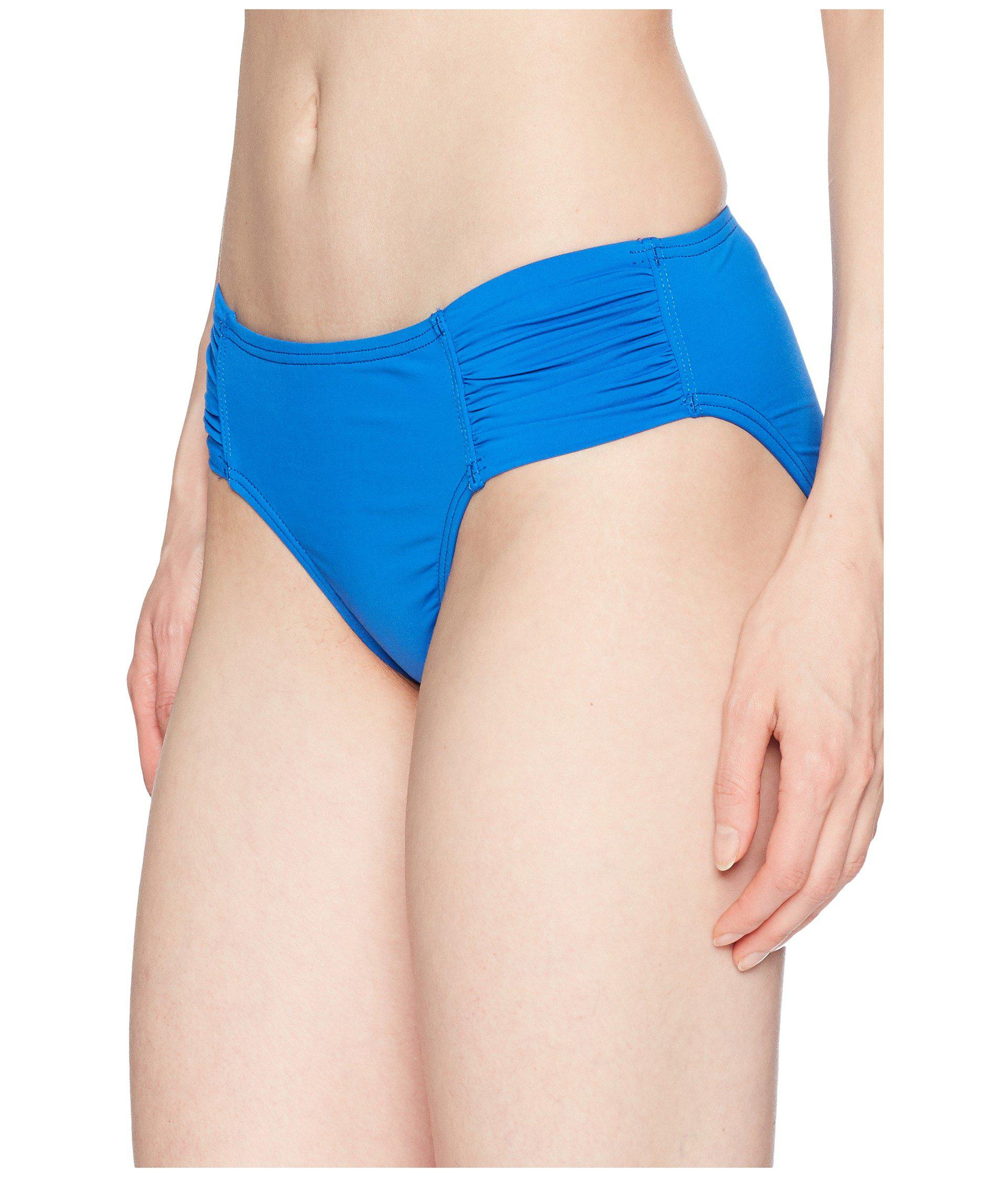 ebf21f63a0d1e Lyst - Tommy Bahama Pearl High-waist Side-shirred Bikini Bottom in Blue -  Save 66%