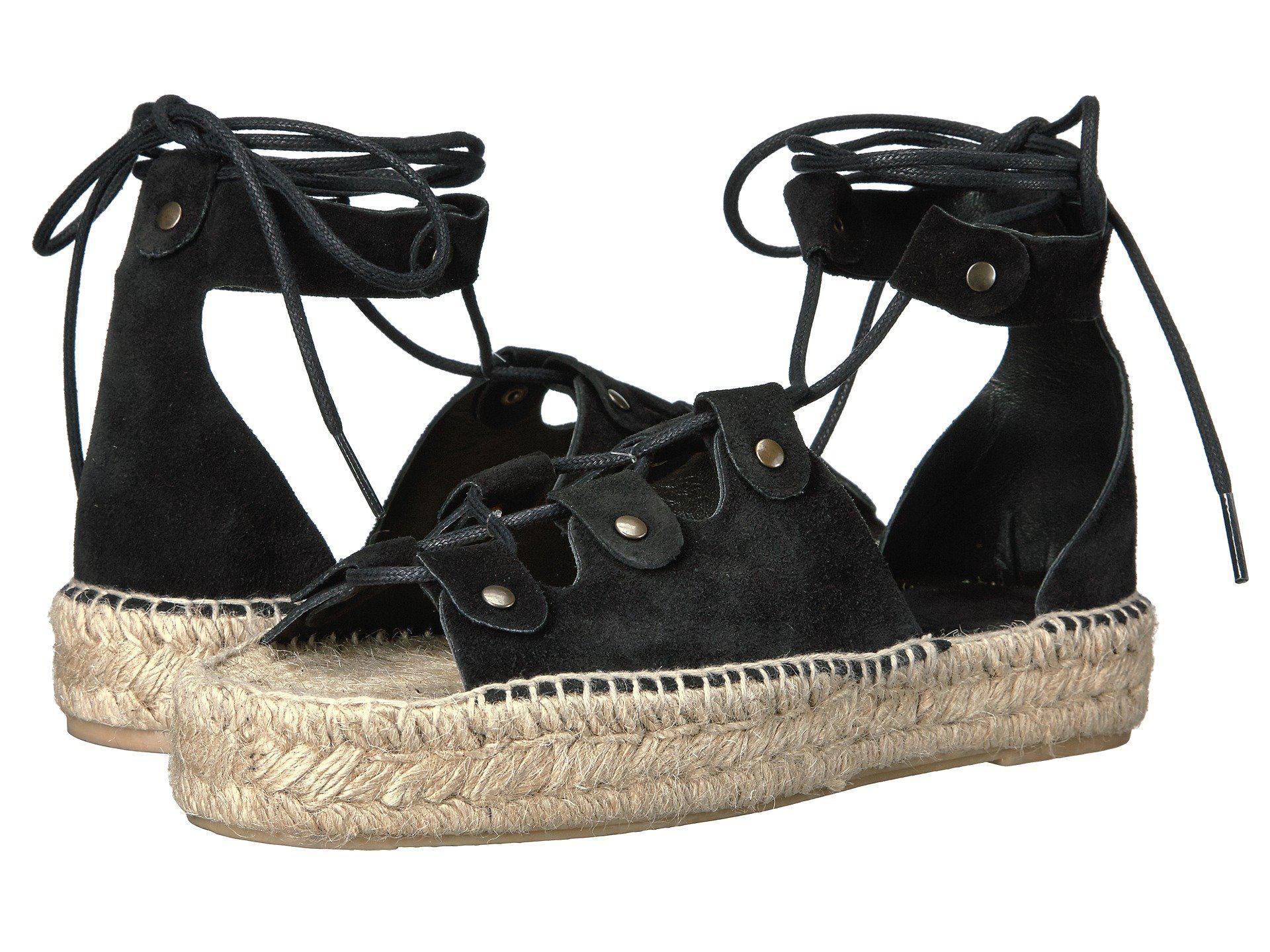 d4417173b22 Lyst - Soludos Ghillie Lace-up Suede Platform Sandal in Black