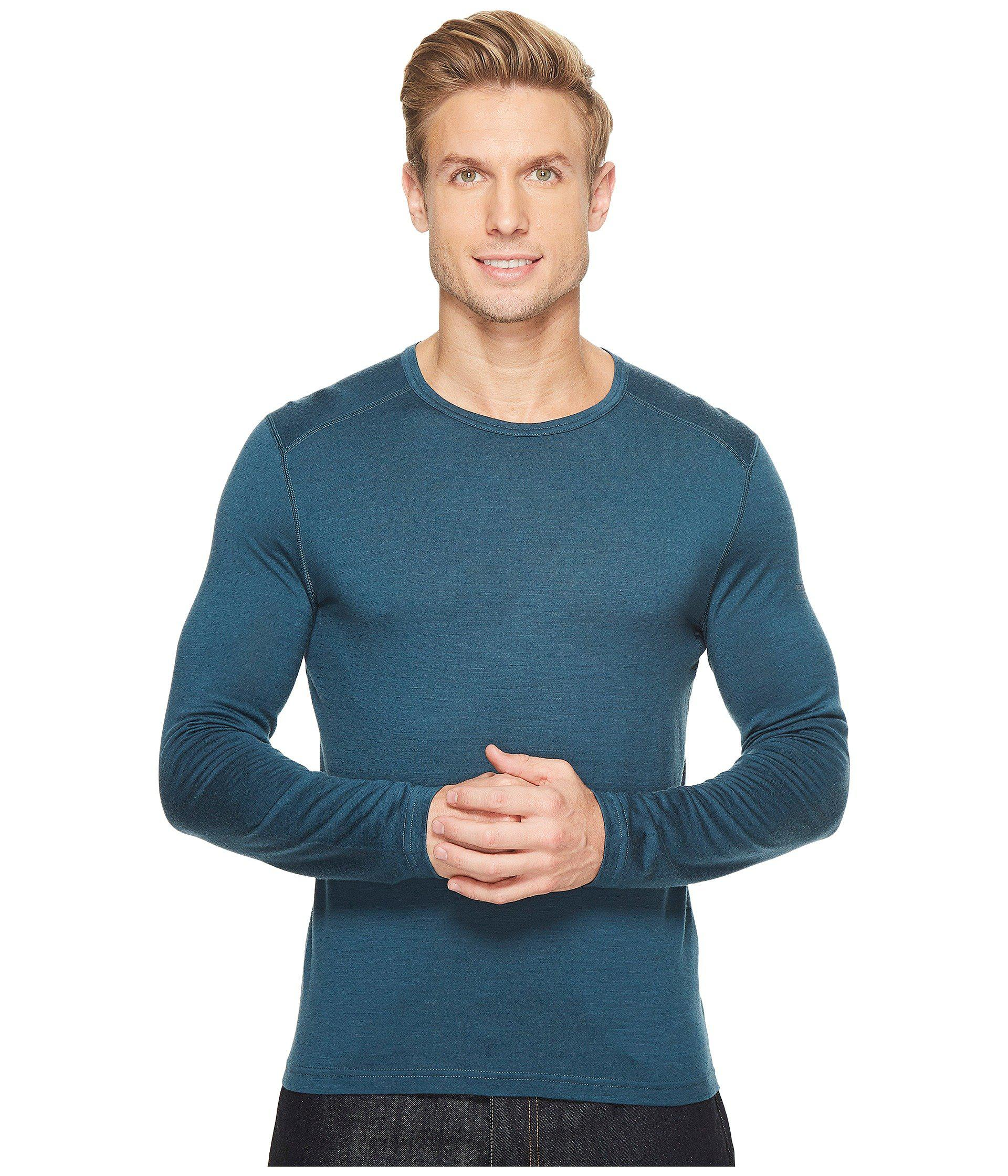 5e8ded9a9378 Lyst - Icebreaker Oasis Mid-weight Merino Long Sleeve Crewe in Blue ...
