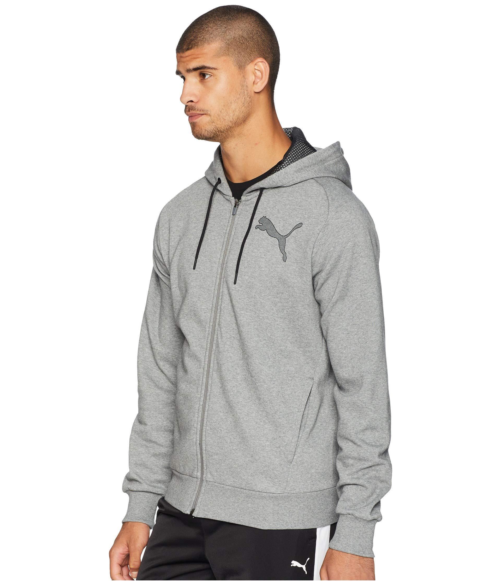 419353b698c0 Lyst - PUMA P48 Modern Sport Full Zip Fleece Hoodie in Gray for Men - Save  11%
