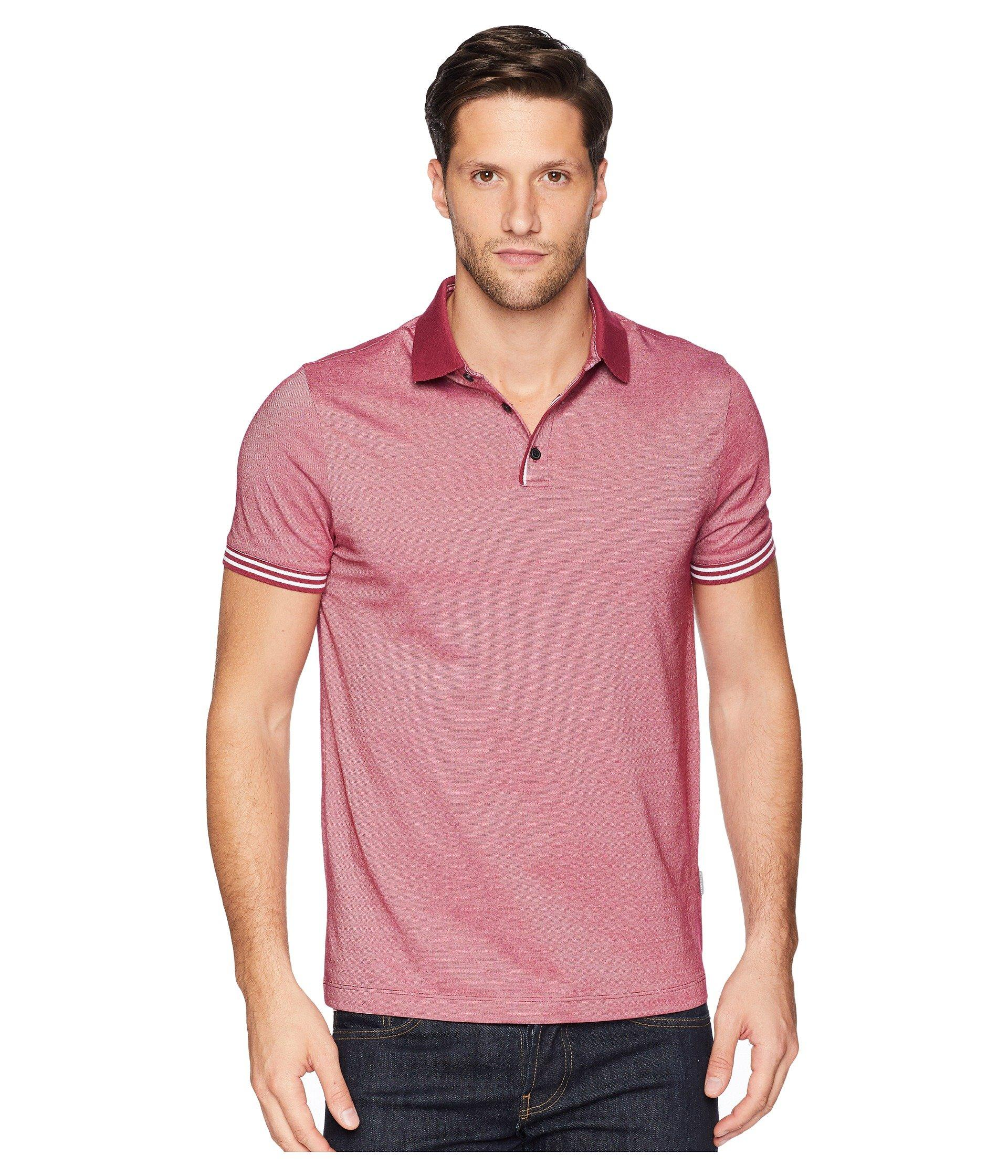 50bd7cc615 Lyst - Perry Ellis Essential End On End Polo in Pink for Men