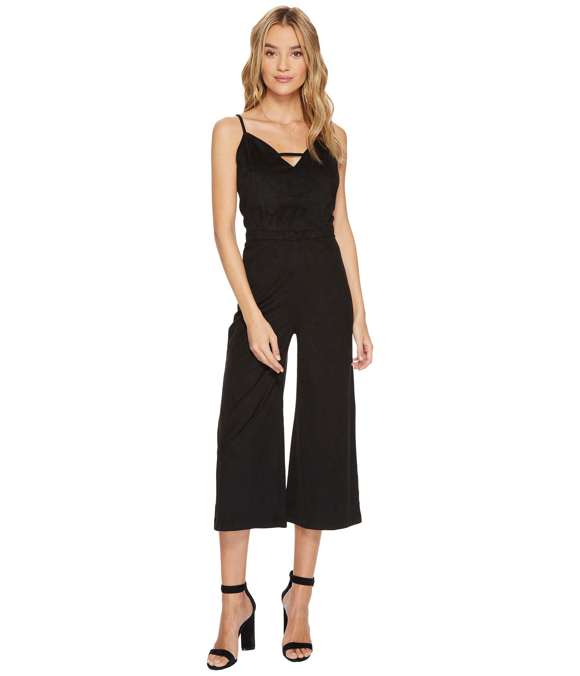 f35bb6141c2 Lyst - Jack BB Dakota Darcy Faux Suede Midi Jumpsuit in Black - Save 42%