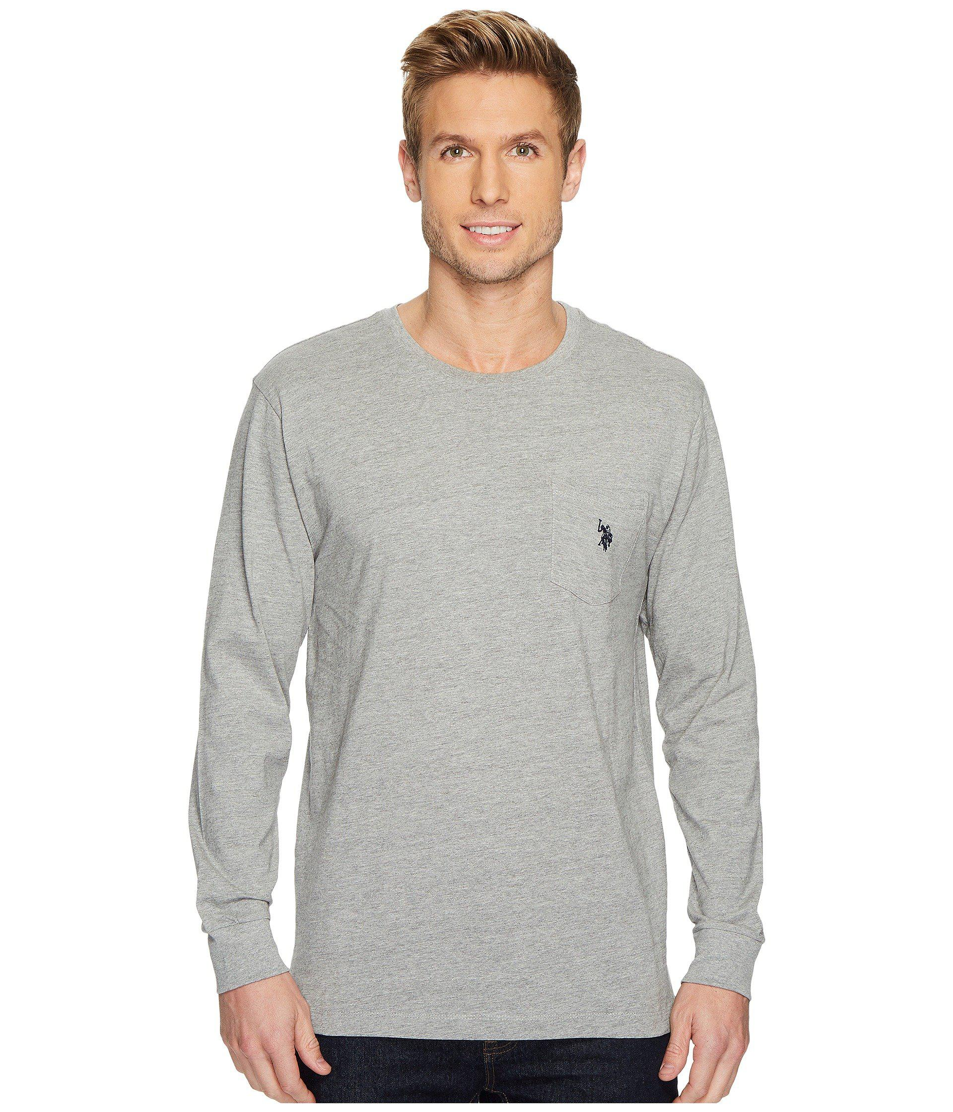 U.S. POLO ASSN. Men's Gray Long Sleeve Thermal Henley Shirt