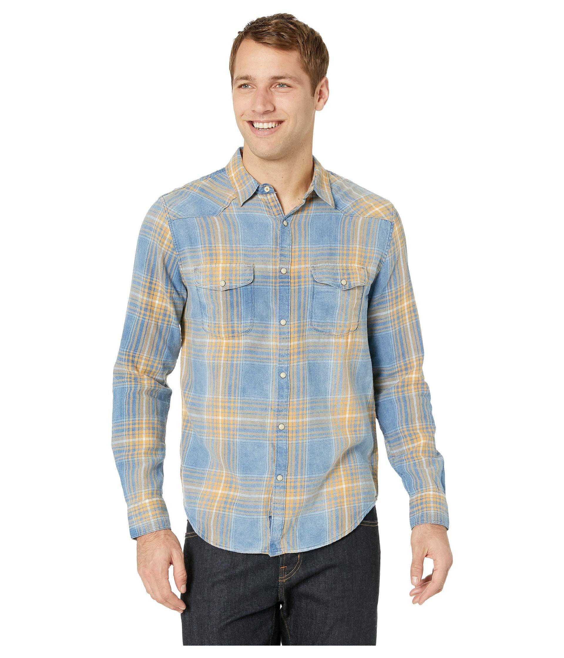 7df014fe80 Lyst - Lucky Brand Santa Fe Western Shirt in Blue for Men - Save 22%