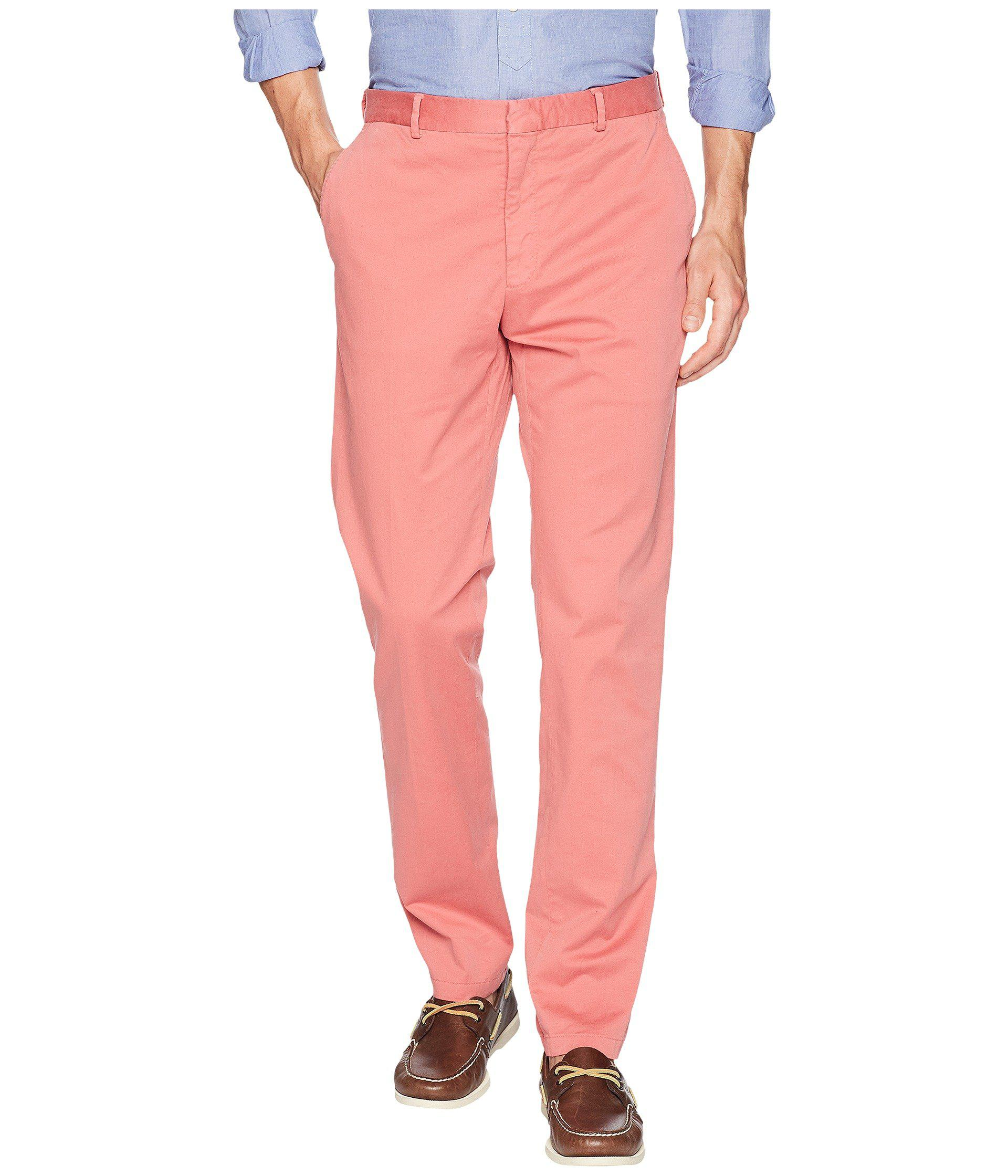 8b55dabe275d Lyst - Polo Ralph Lauren Garment Dyed Cotton Stretch Trousers in Red ...