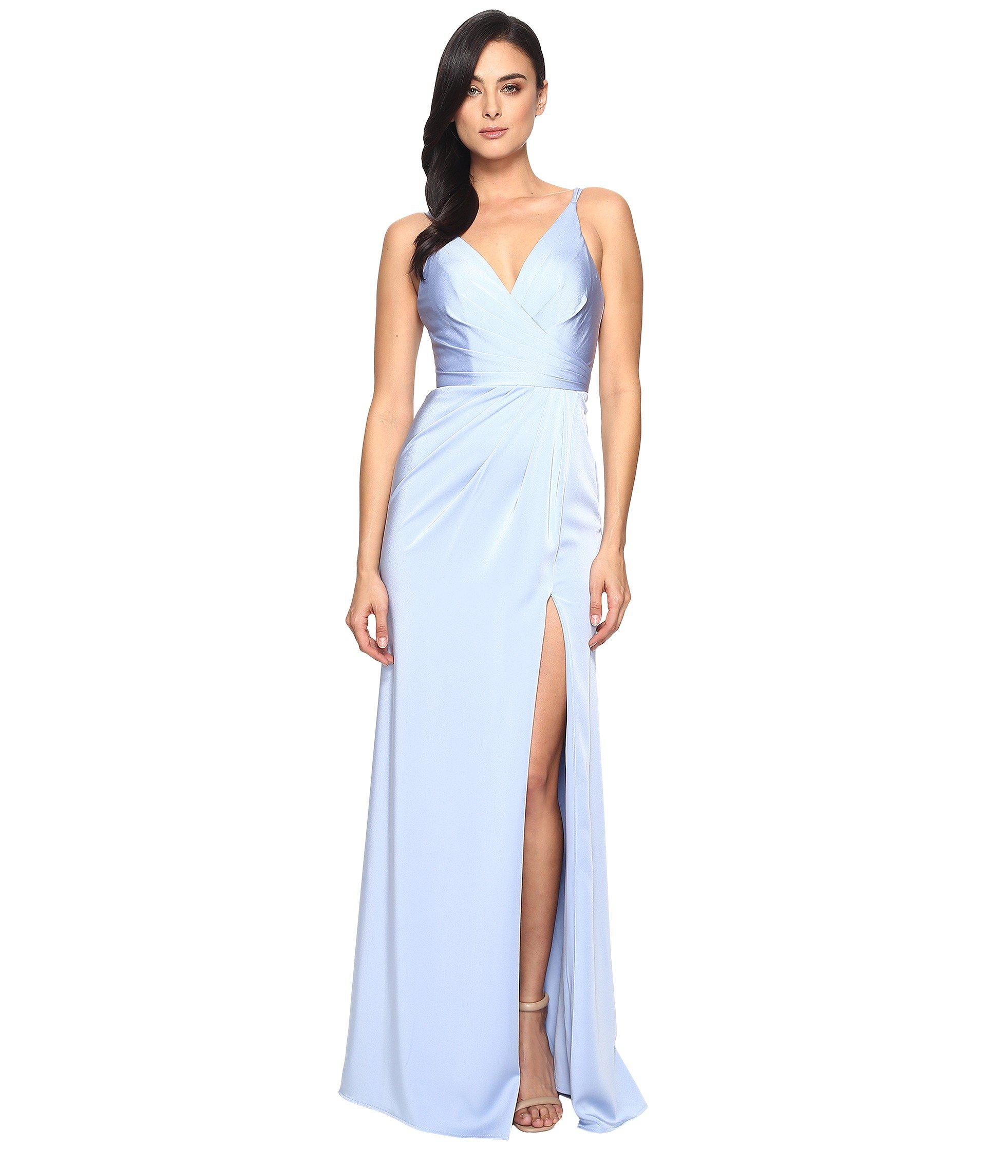 38a8feeae9d Faviana Satin Faille V-neck Gown W  Lightly Rouched Bodice ...