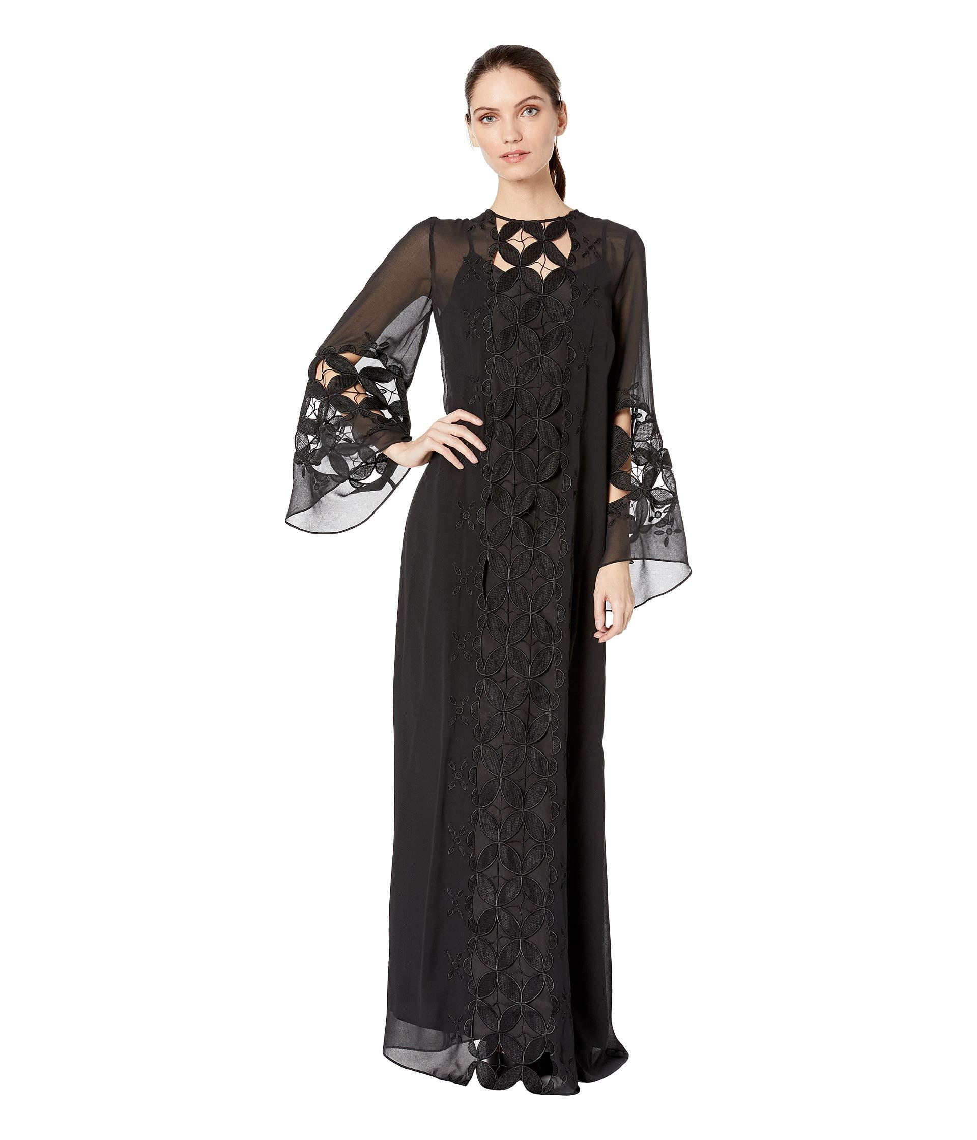 03af7f8108a07 Lyst - Juicy Couture Embroidered Lace Kaftan in Black