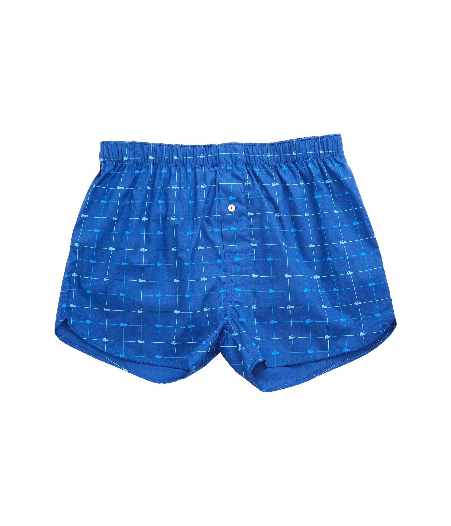 91f0c9819 Lyst - Lacoste Authentics 2-pack Signature Print Woven Boxers in ...