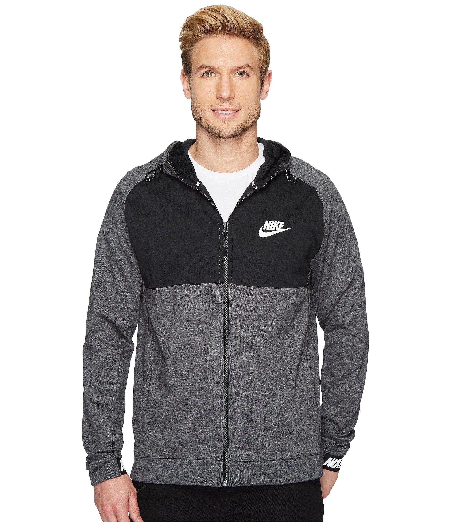 b6b4436f Nike Sportswear Advance 15 Full Zip Hoodie in Black for Men - Lyst