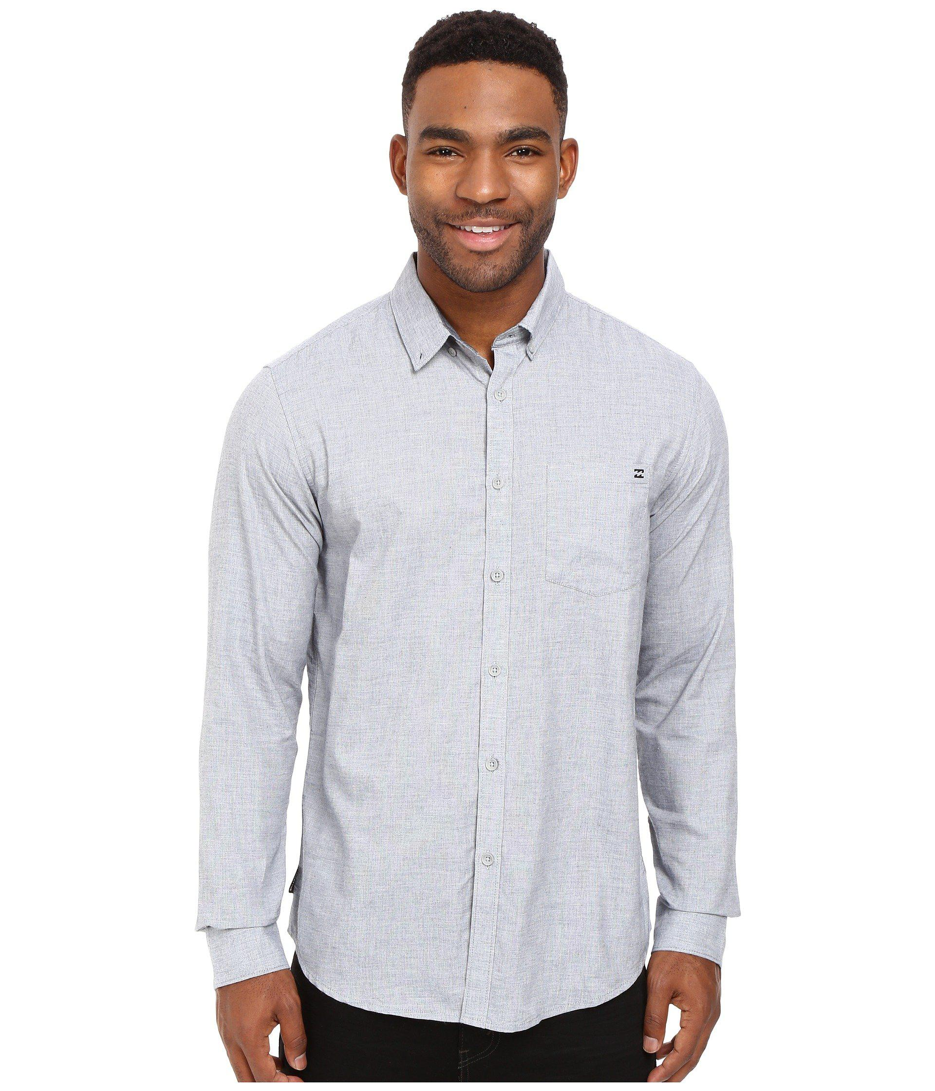 bf2b177f Billabong All Day Long Sleeve Chambray in Blue for Men - Lyst