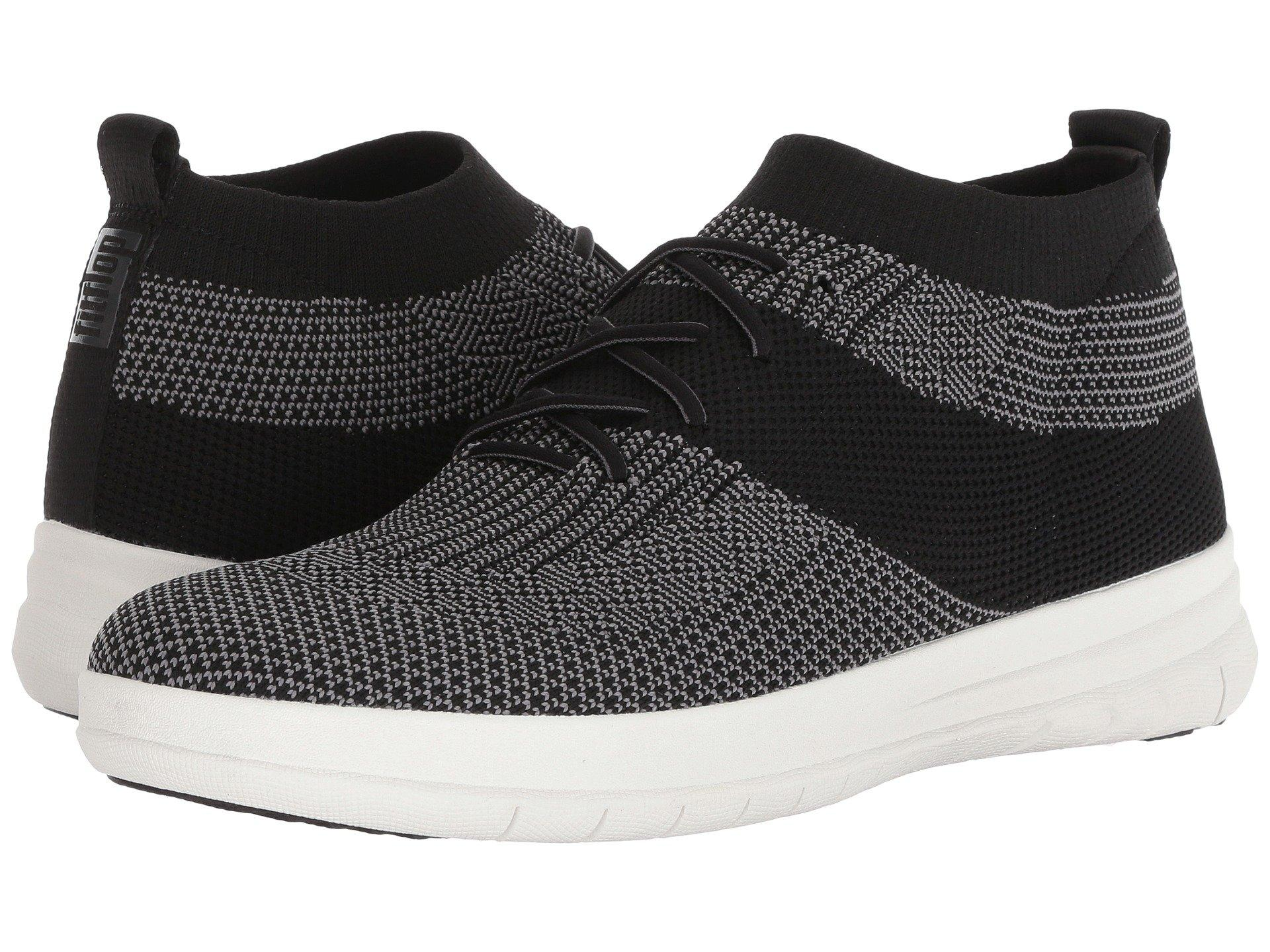 3a1f299bf Lyst - Fitflop Uberknit Slip-on High Top Sneakers in Black for Men ...