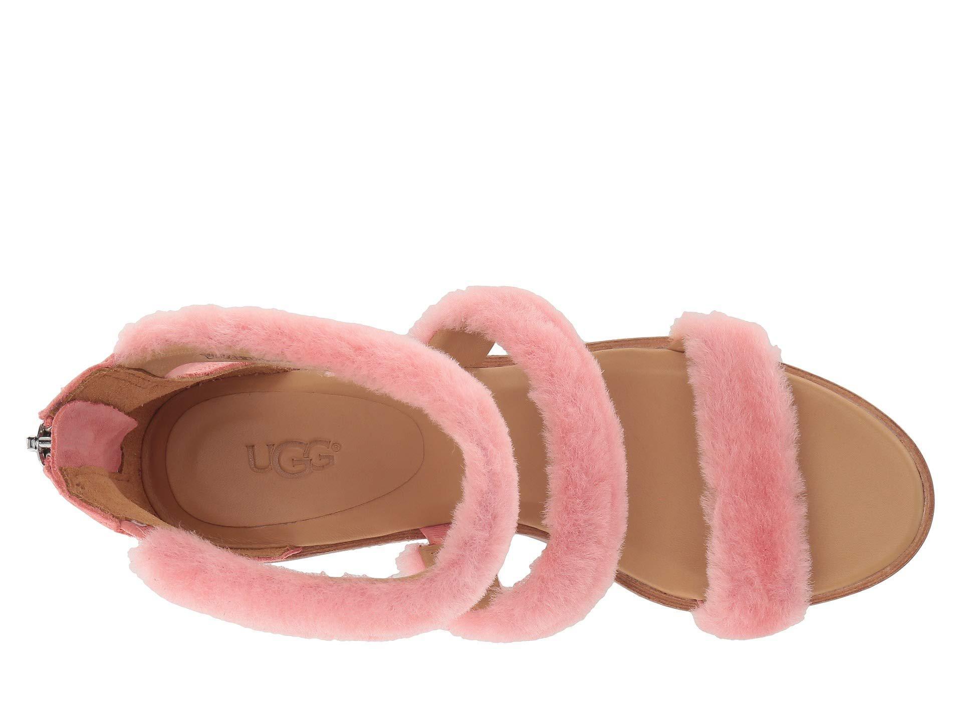 c8906ecf6dd7 Lyst - UGG Del Rey Fluff Heel in Pink - Save 46%