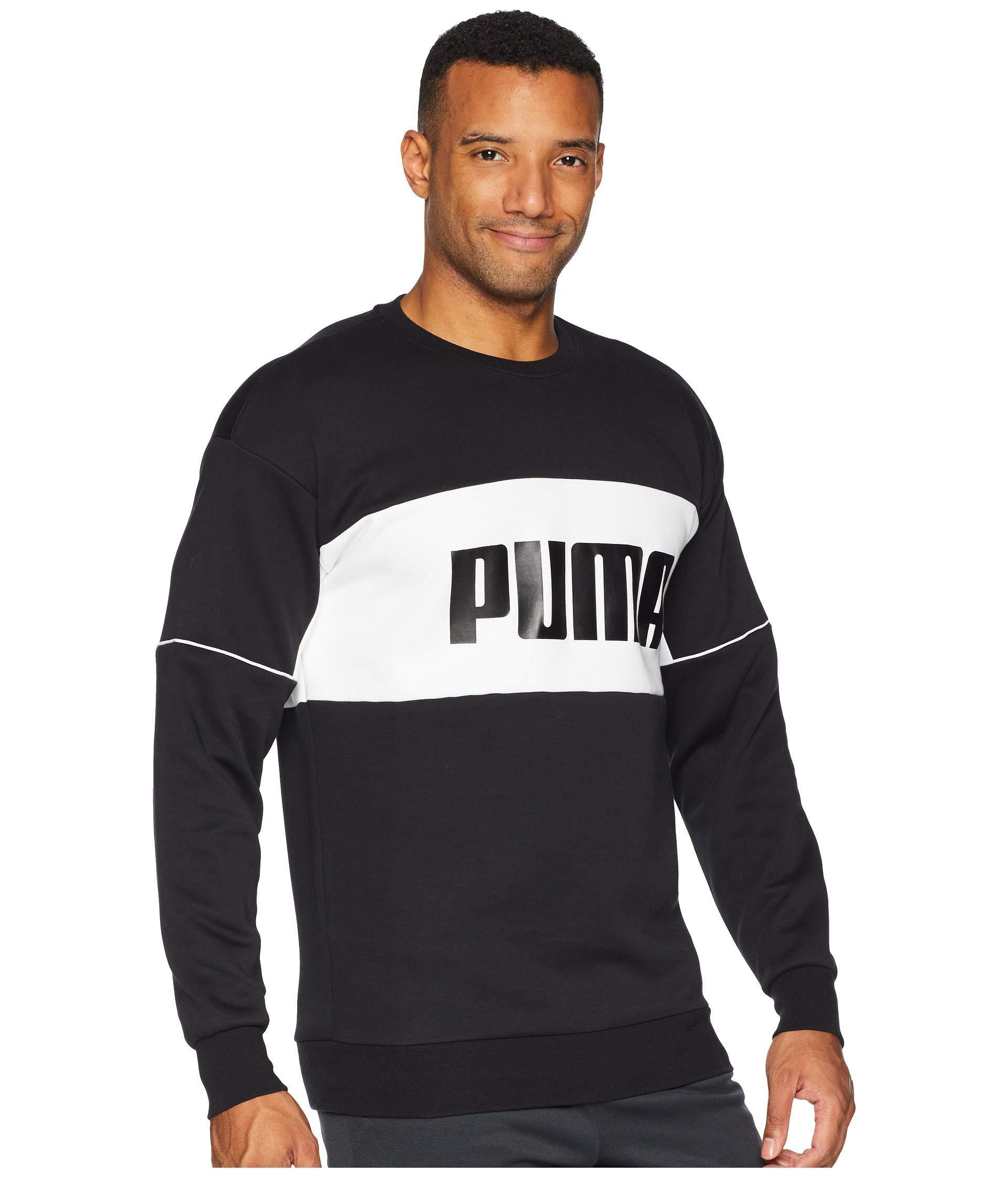 b0f4d280e2b2f2 ... PUMA - Black Retro Crew Neck Sweatshirt for Men - Lyst. View fullscreen  unique design ...