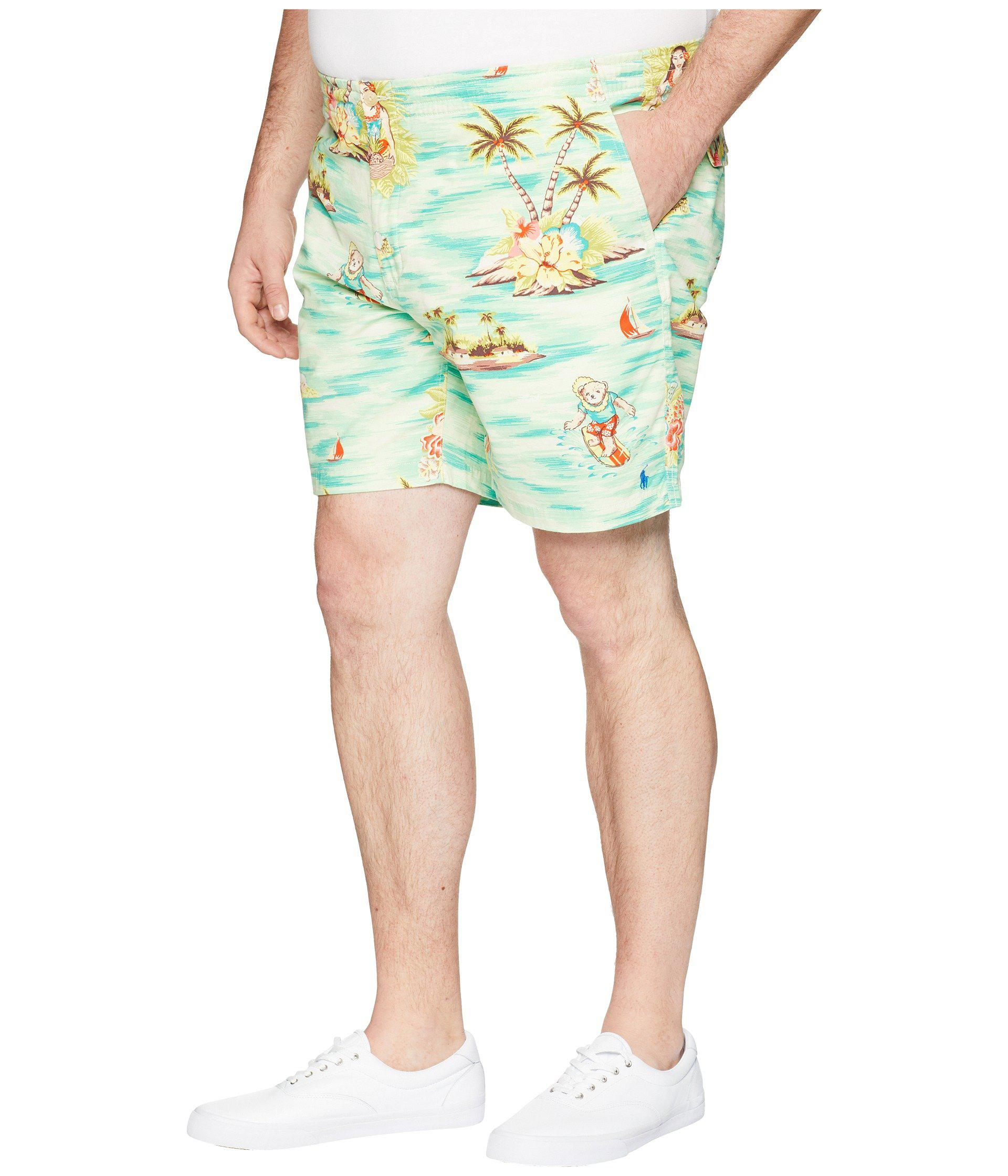 921901fd57 Lyst - Polo Ralph Lauren Big & Tall Classic Fit Prepster Shorts in Green for  Men
