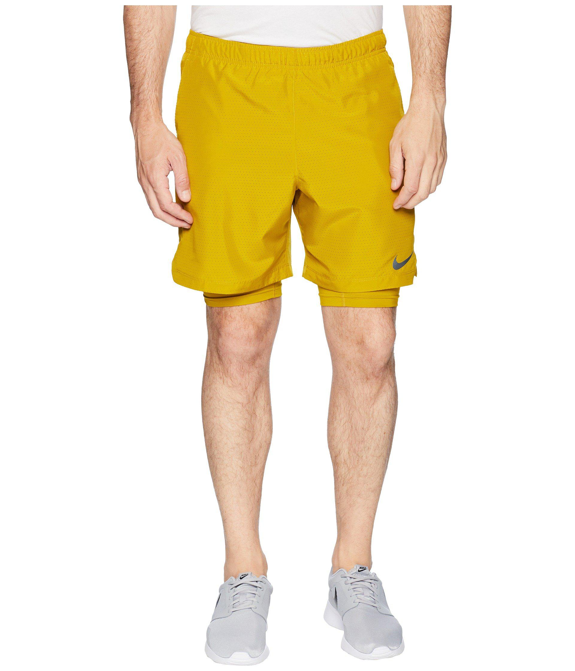 0f9e1ee0ec4 Nike - Yellow Challenger 2-in-1 Shorts 7