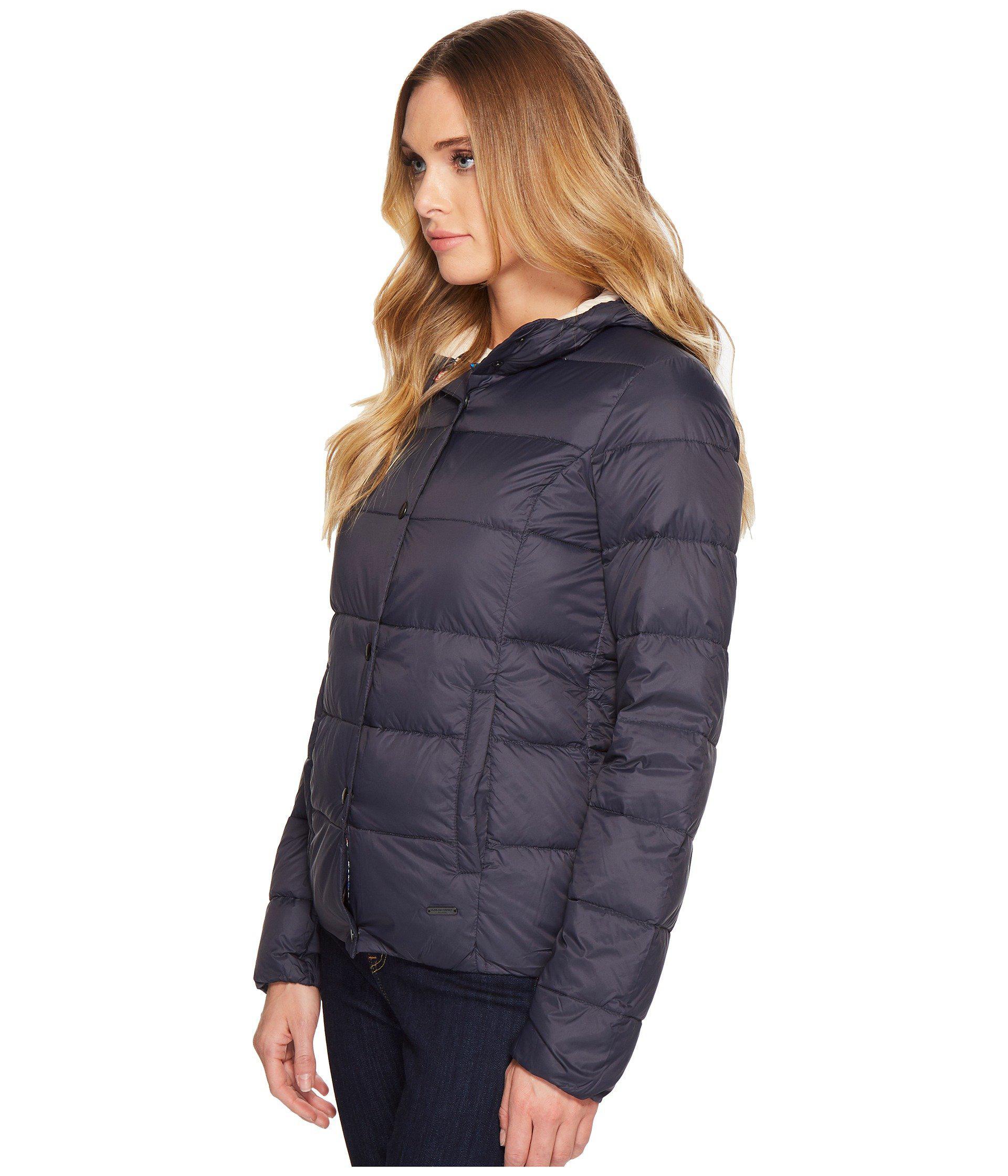 Lyst - Ilse Jacobsen Hooded Puffer Coat in Blue 62900ec9c0