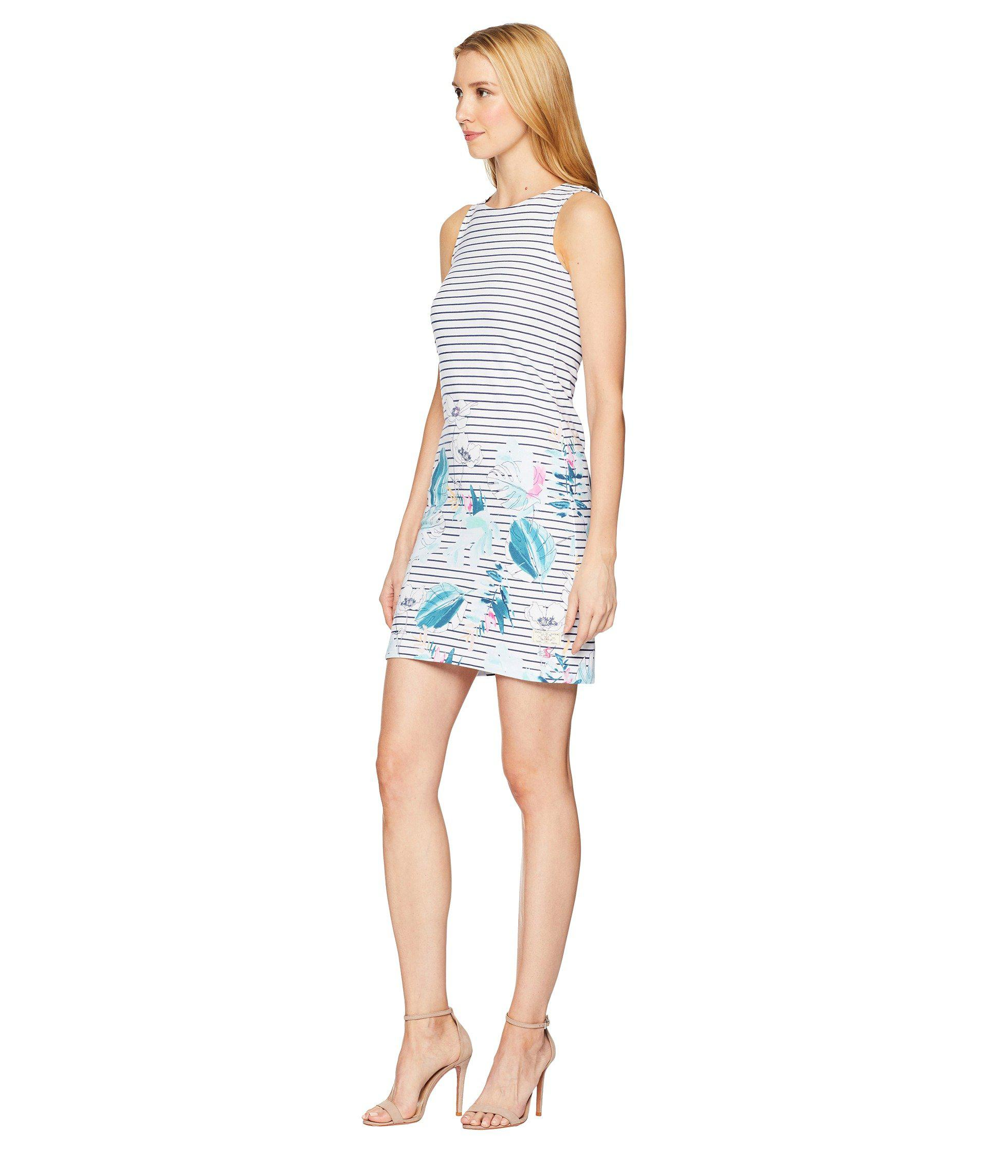 bed39390644 Joules Riva Sleeveless Printed Jersey Dress in Blue - Lyst