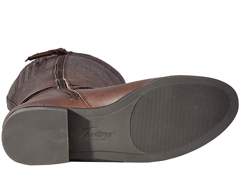 9212c7311dc Trotters Liberty (dark Brown Burnished Leather/embossed Anaconda ...