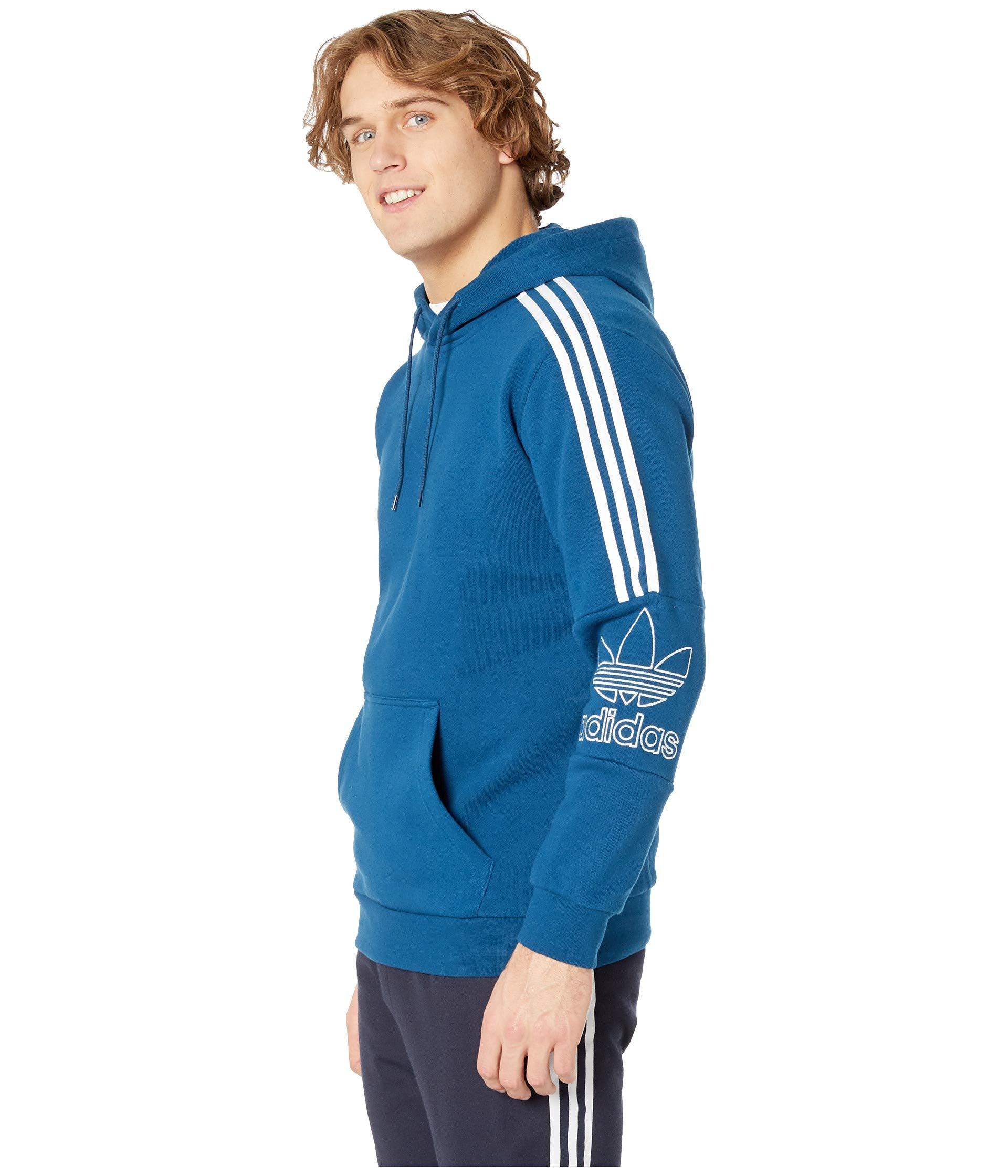 fb8a0bb7e1b2 Lyst - adidas Originals Outline Hoodie in Blue for Men