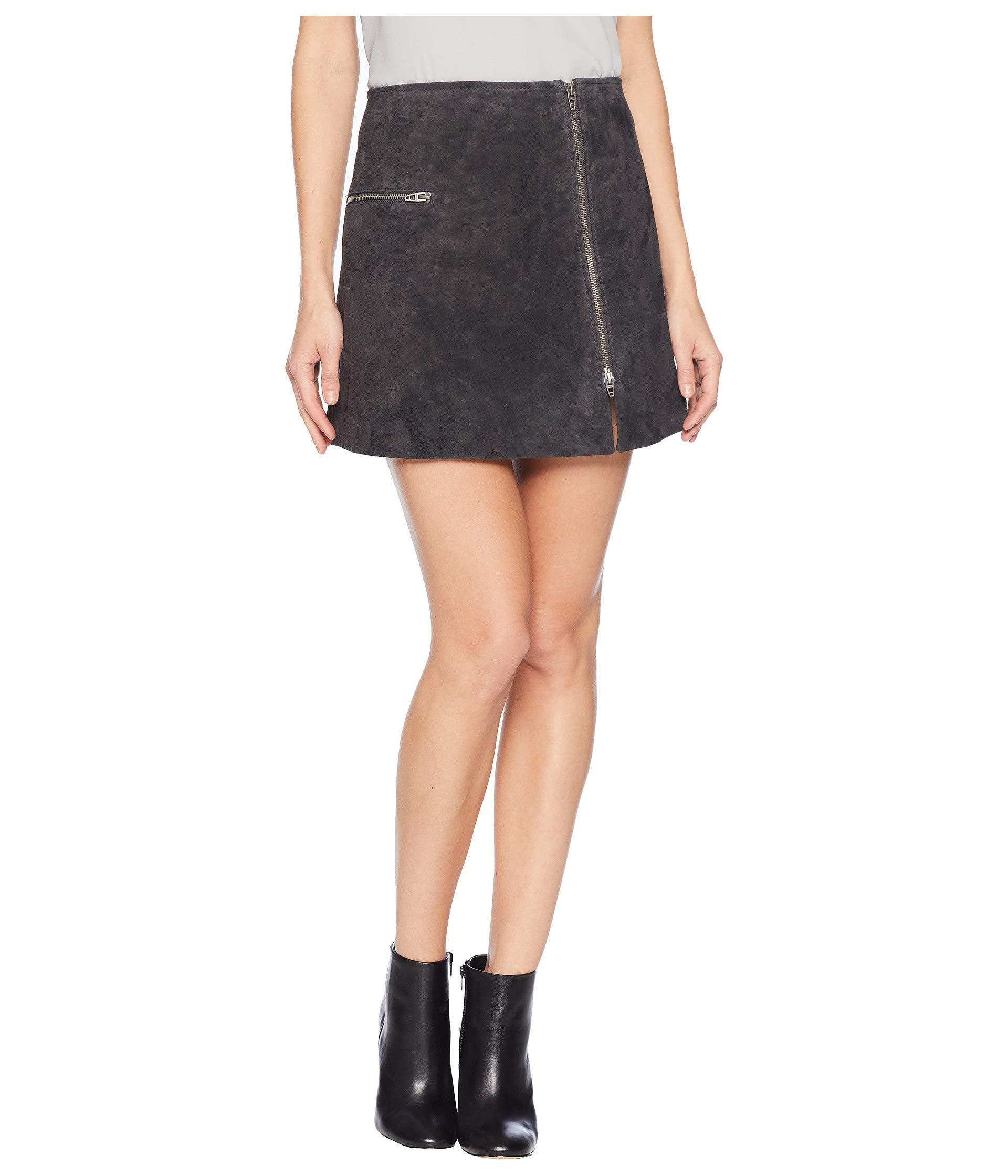 8593cc2b5b Blank NYC Real Suede Mini Skirt With Zipper Detail In Dark And ...