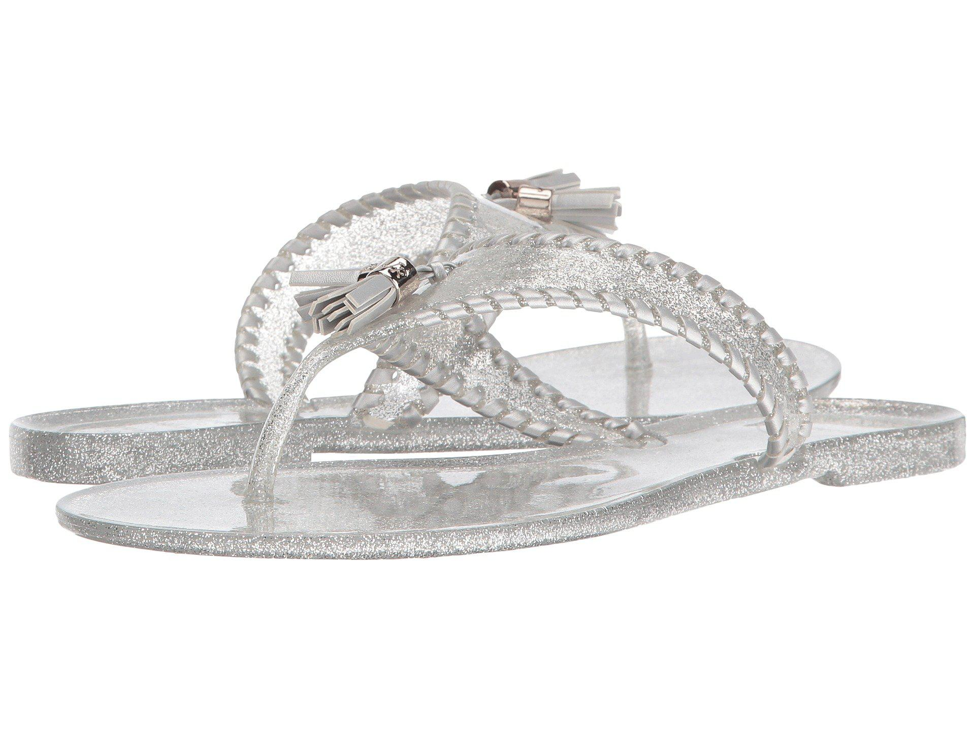 e18651a01c5e Lyst - Jack Rogers Sparkle Alana Jelly in Metallic - Save ...
