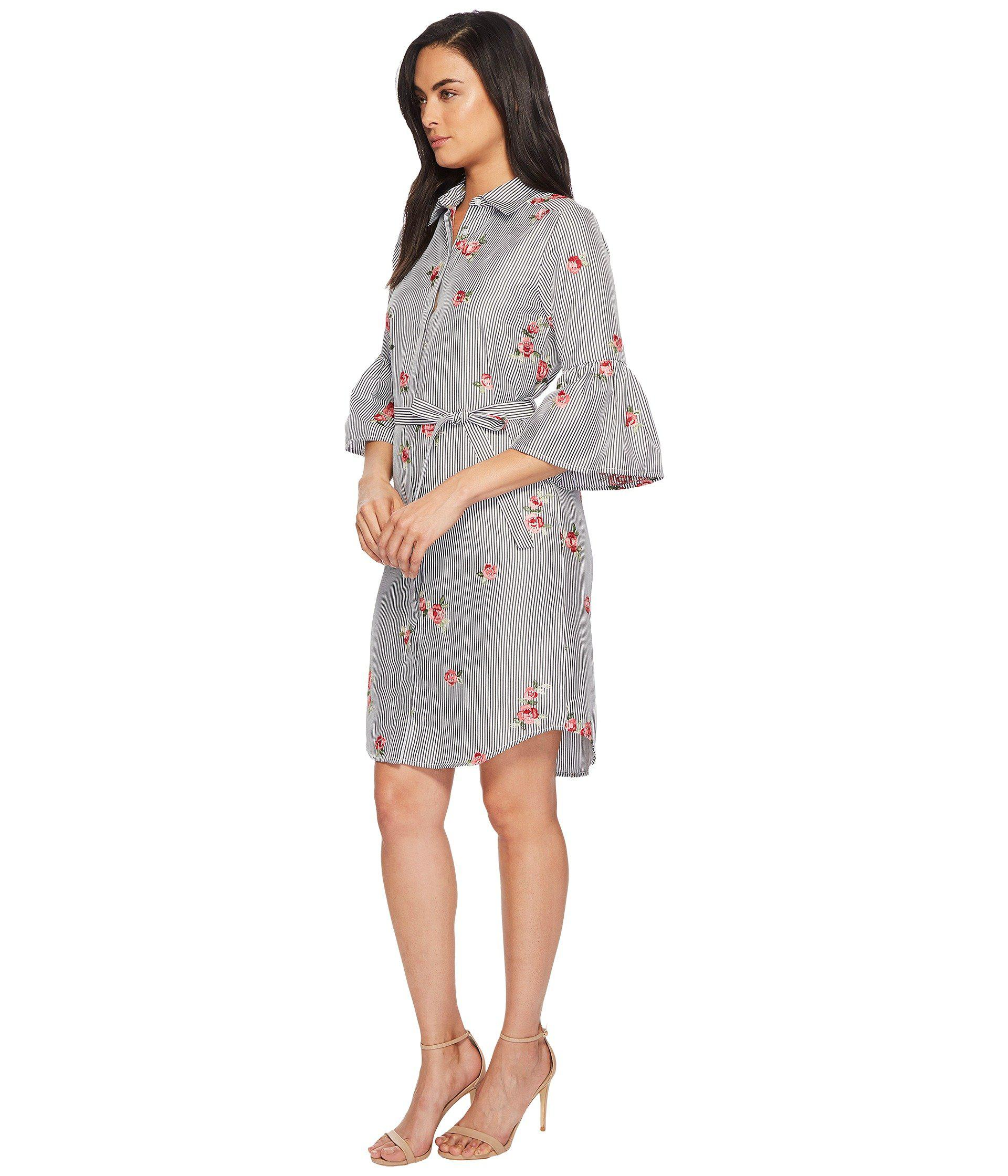 dc2a2435 Lyst - Calvin Klein Floral Embroidered Bell Sleeve Cd8g18gx - Save 26%