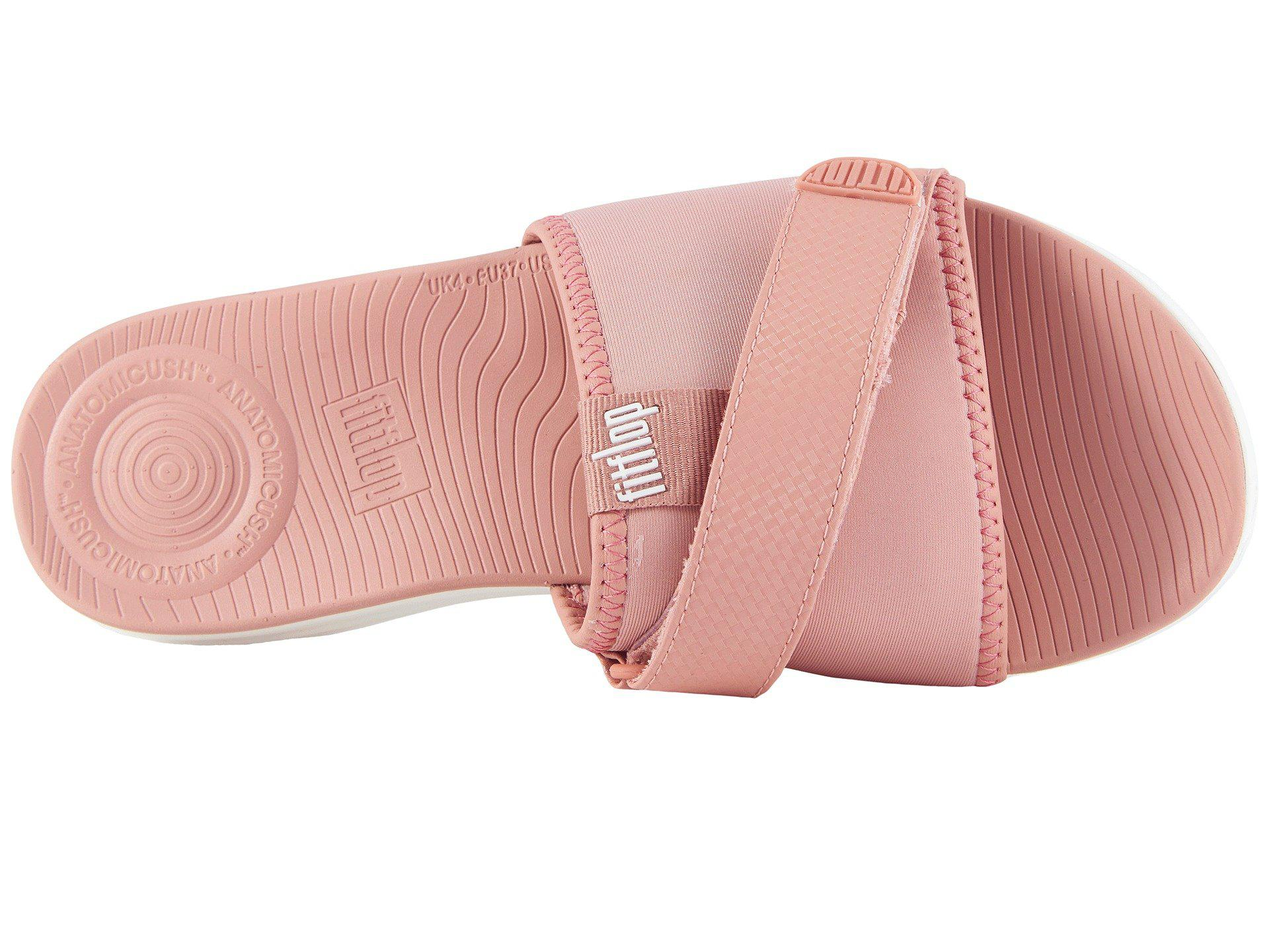 727d2caeac2a51 Fitflop - Pink Neoflex Slide Sandals - Lyst. View fullscreen exquisite  style e175c e3eb0  Fitflop. Women ...