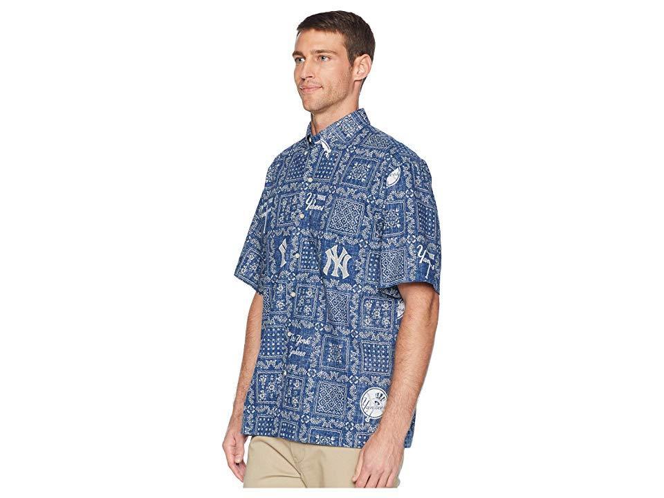 1052ac46 Reyn Spooner - Blue New York Yankees Original Lahaina Classic Fit Hawaiian  Shirt (navy). View fullscreen