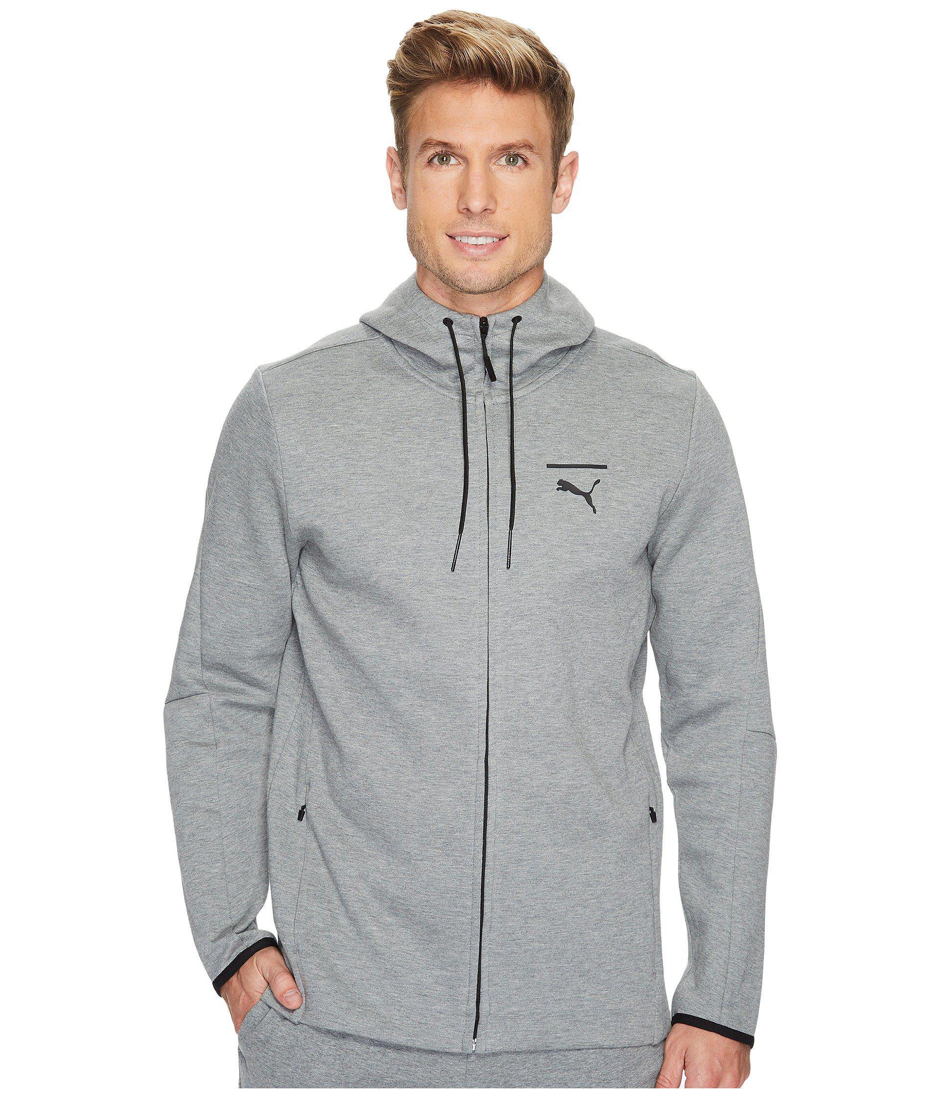 c384b183daca Lyst - PUMA Evo Core Full Zip Hoodie in Gray for Men
