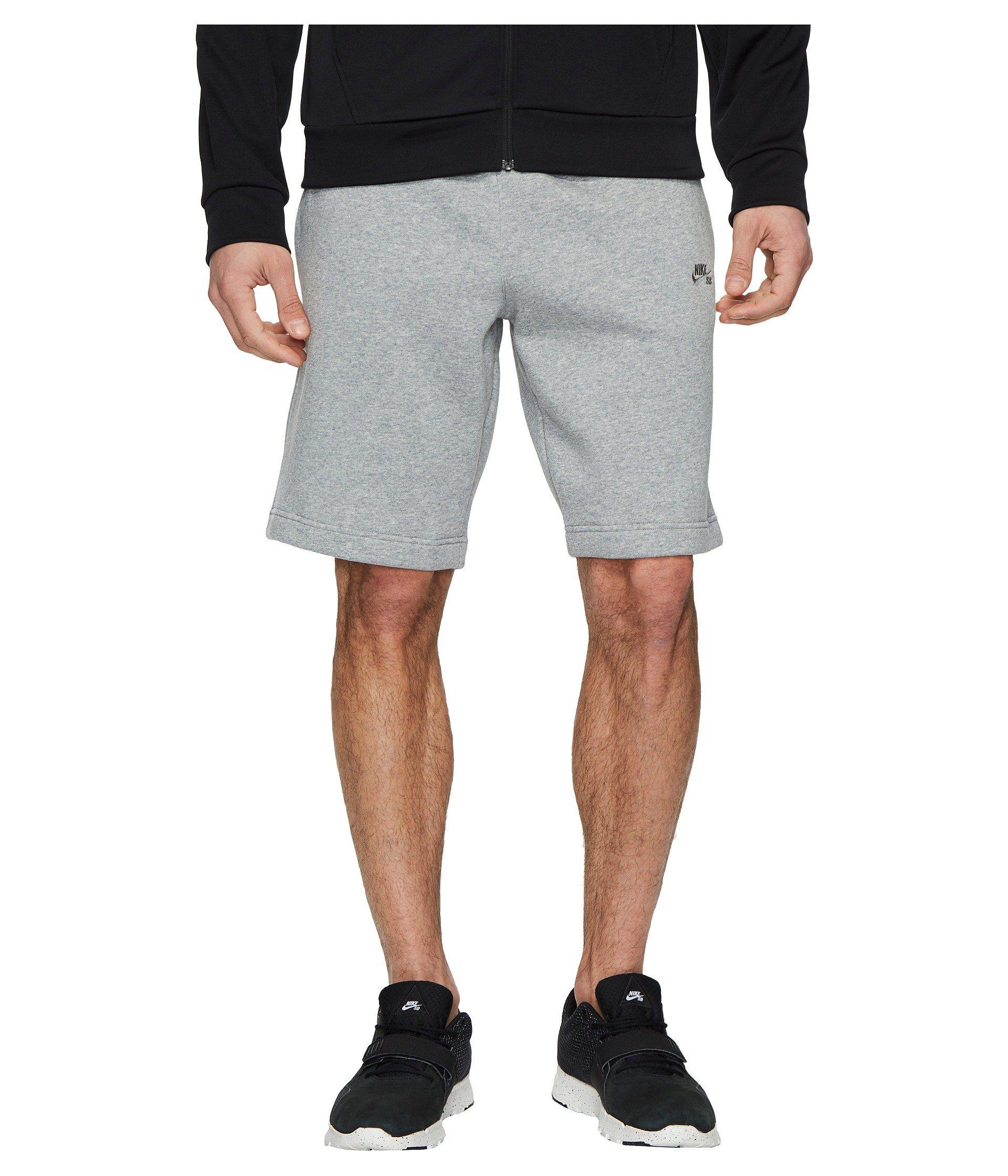 2a5821cf5a51 Lyst - Nike Sb Icon Fleece Short in Gray for Men