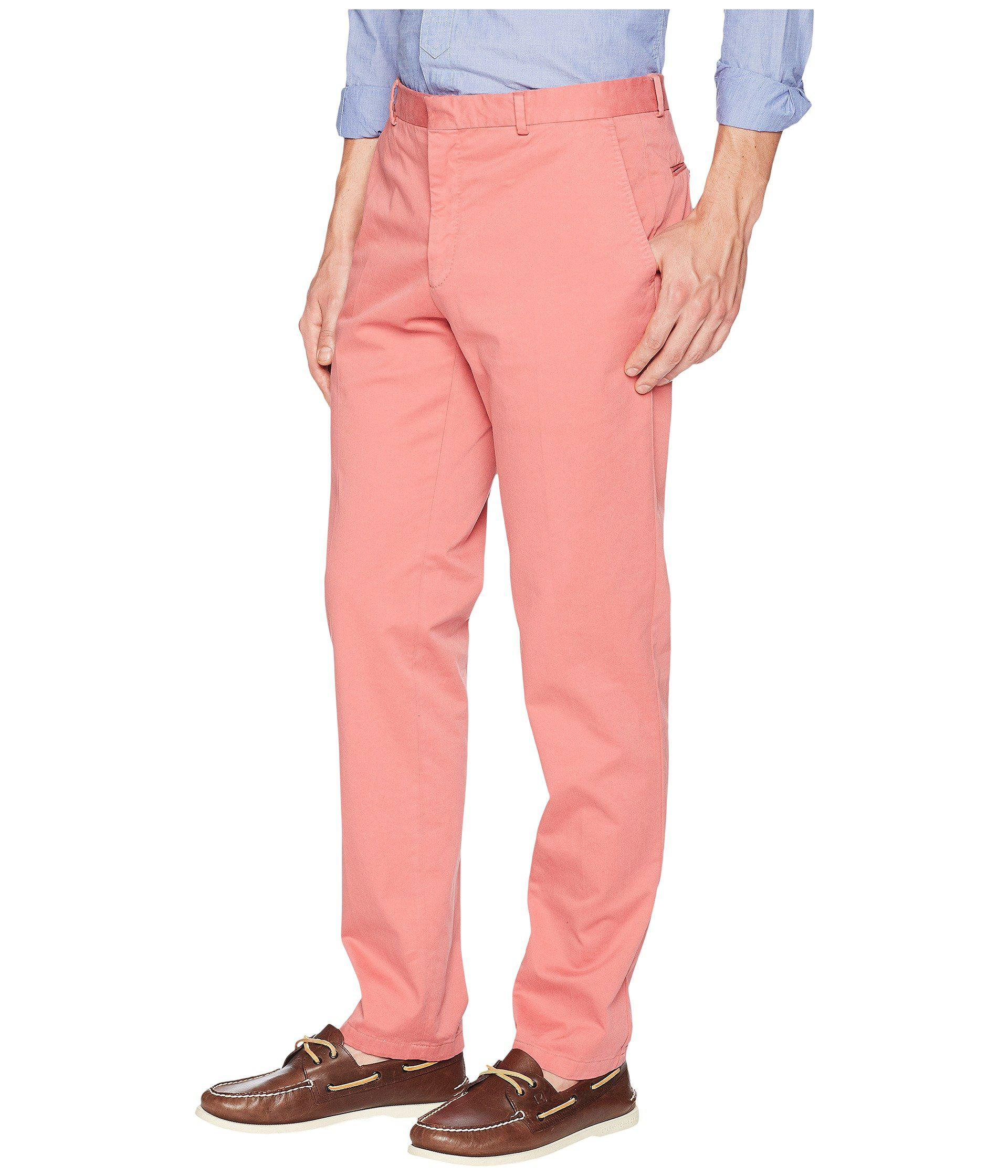 962c24aba8e0 Lyst - Polo Ralph Lauren Garment Dyed Cotton Stretch Trousers in Red for Men  - Save 54%