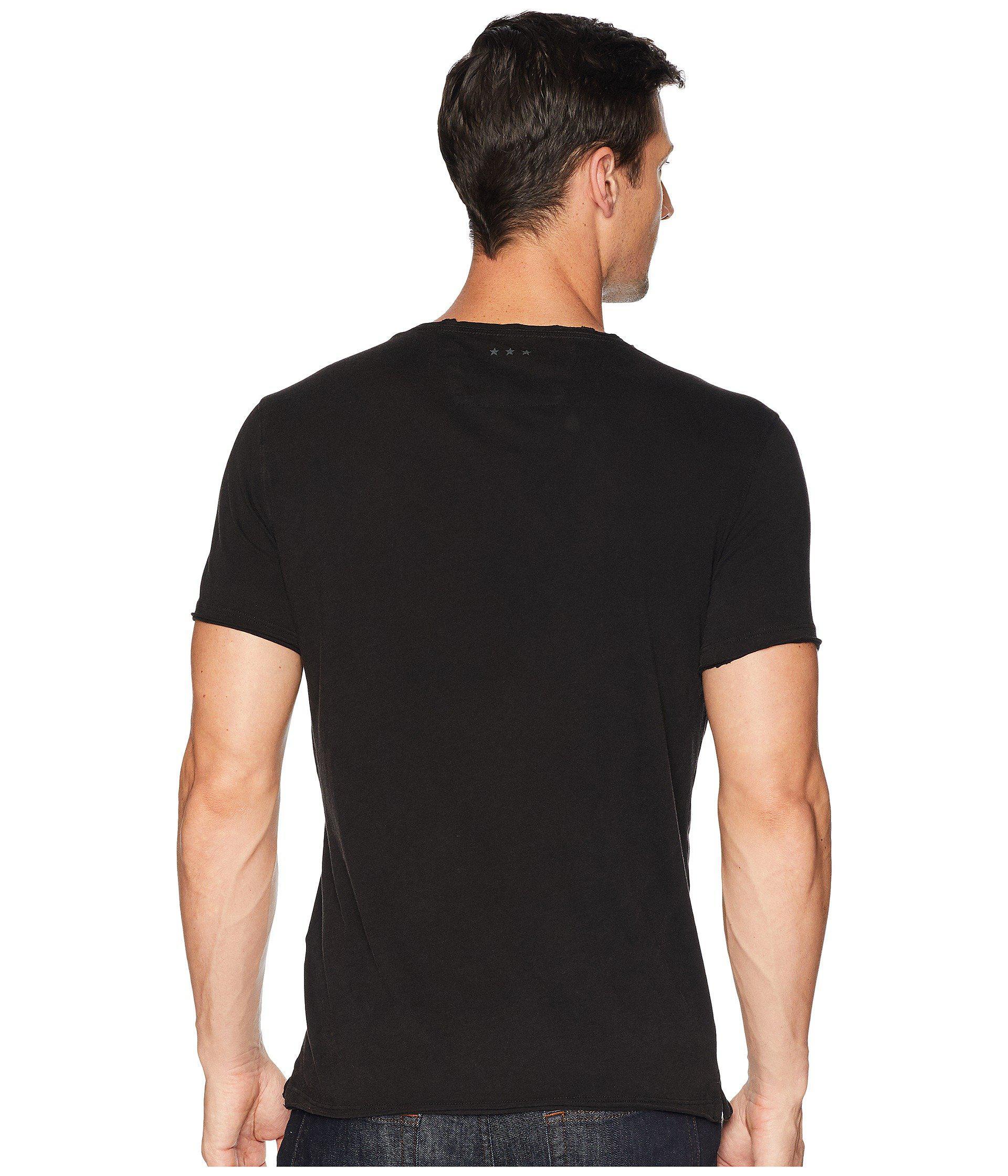 John Varvatos Star USA Men/'s Black Bowery Live Graphic Crew-Neck T-Shirt