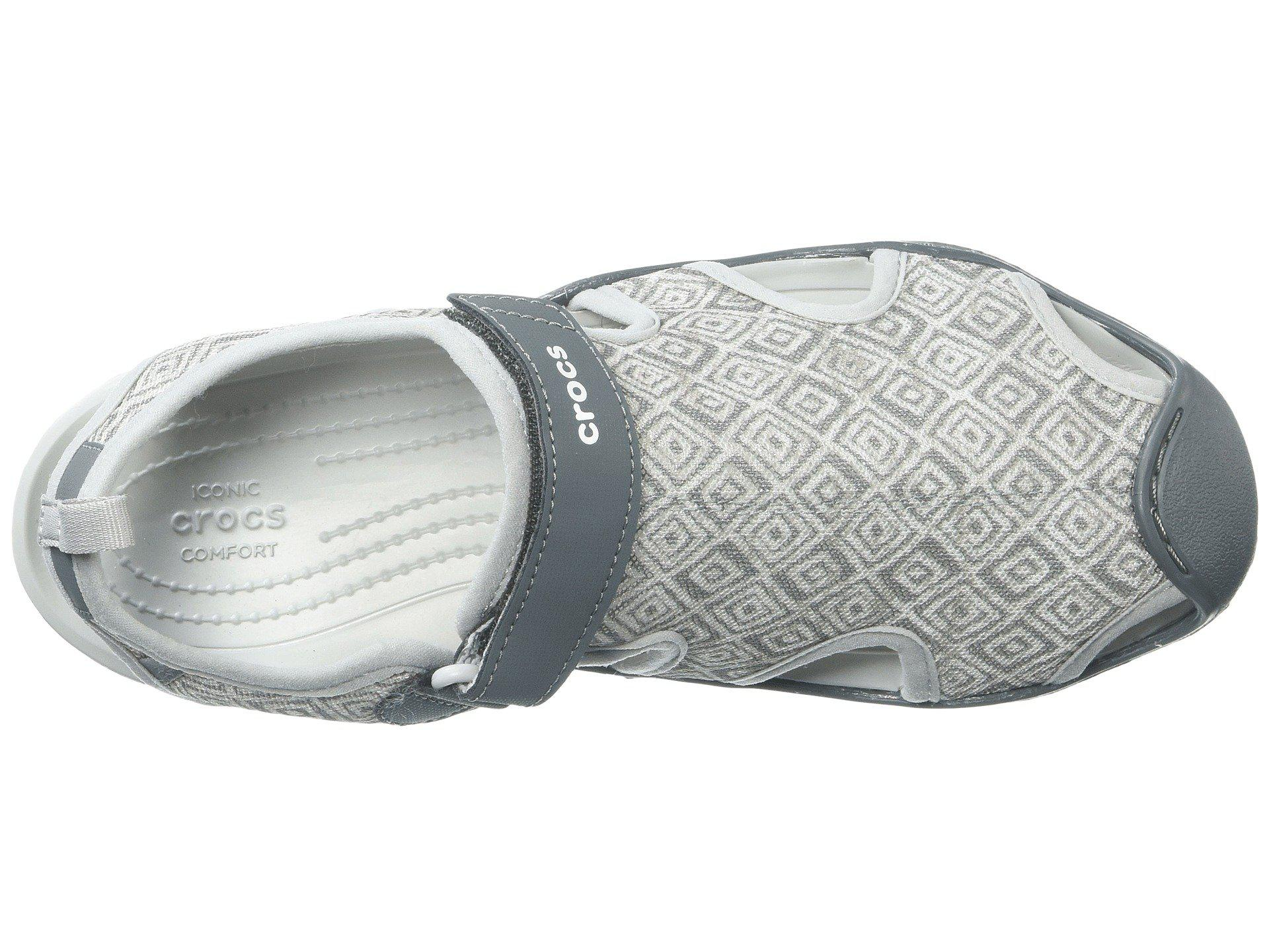 a1a8d43b312a Crocs™ - Gray Swiftwater Graphic Mesh Sandal - Lyst. View fullscreen