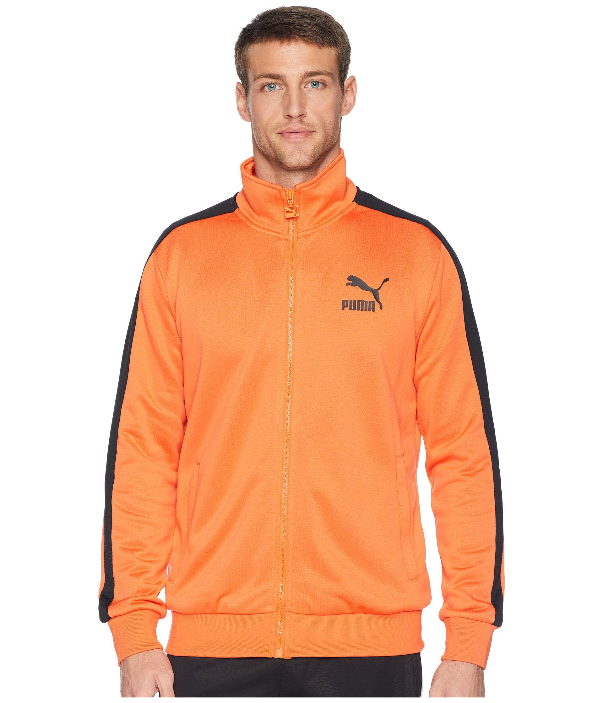 a231181208a4 Lyst - PUMA Classics T7 Track Jacket in Orange for Men - Save 42%