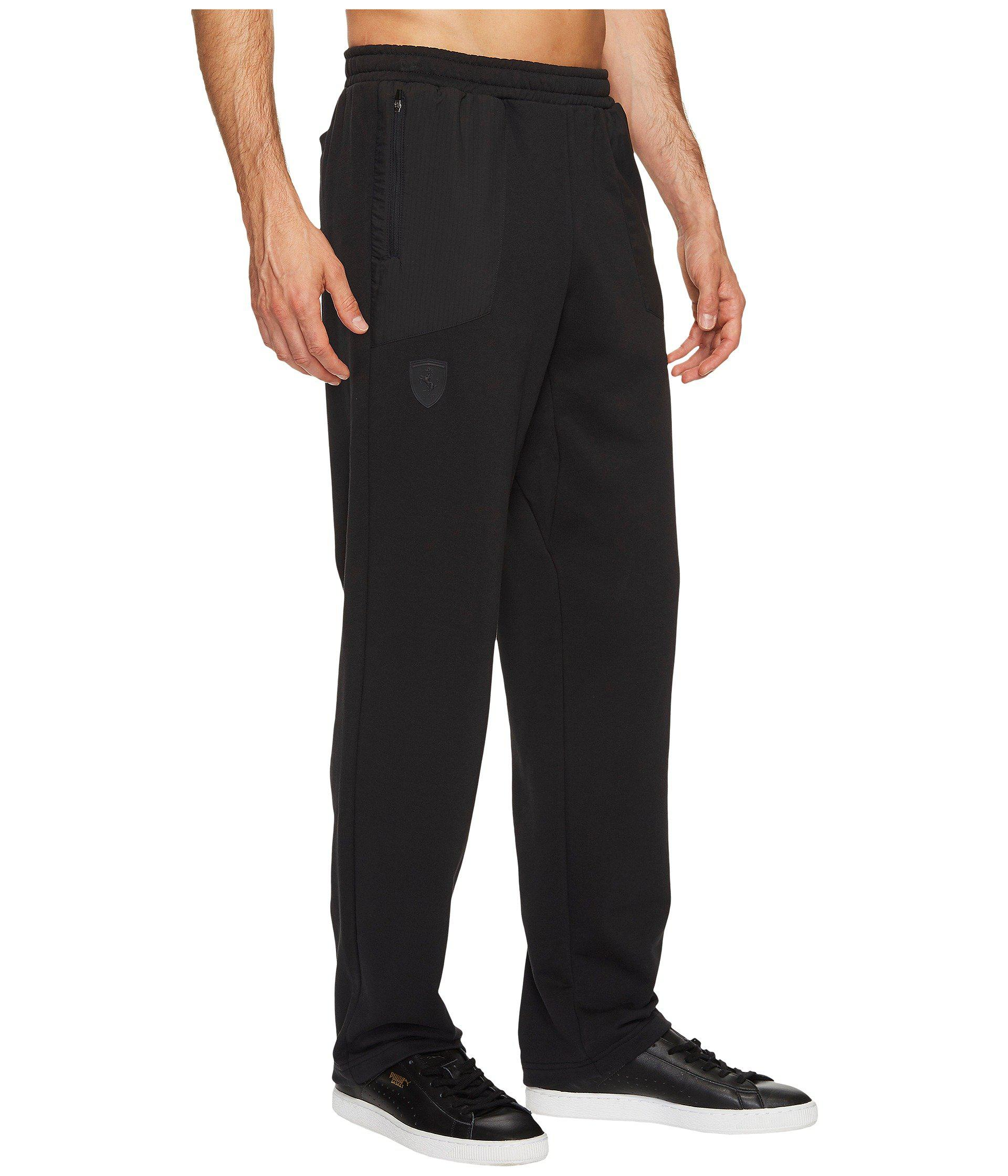 de20d992ac5e Lyst - PUMA Ferrari Open Cuff Sweatpants in Black for Men