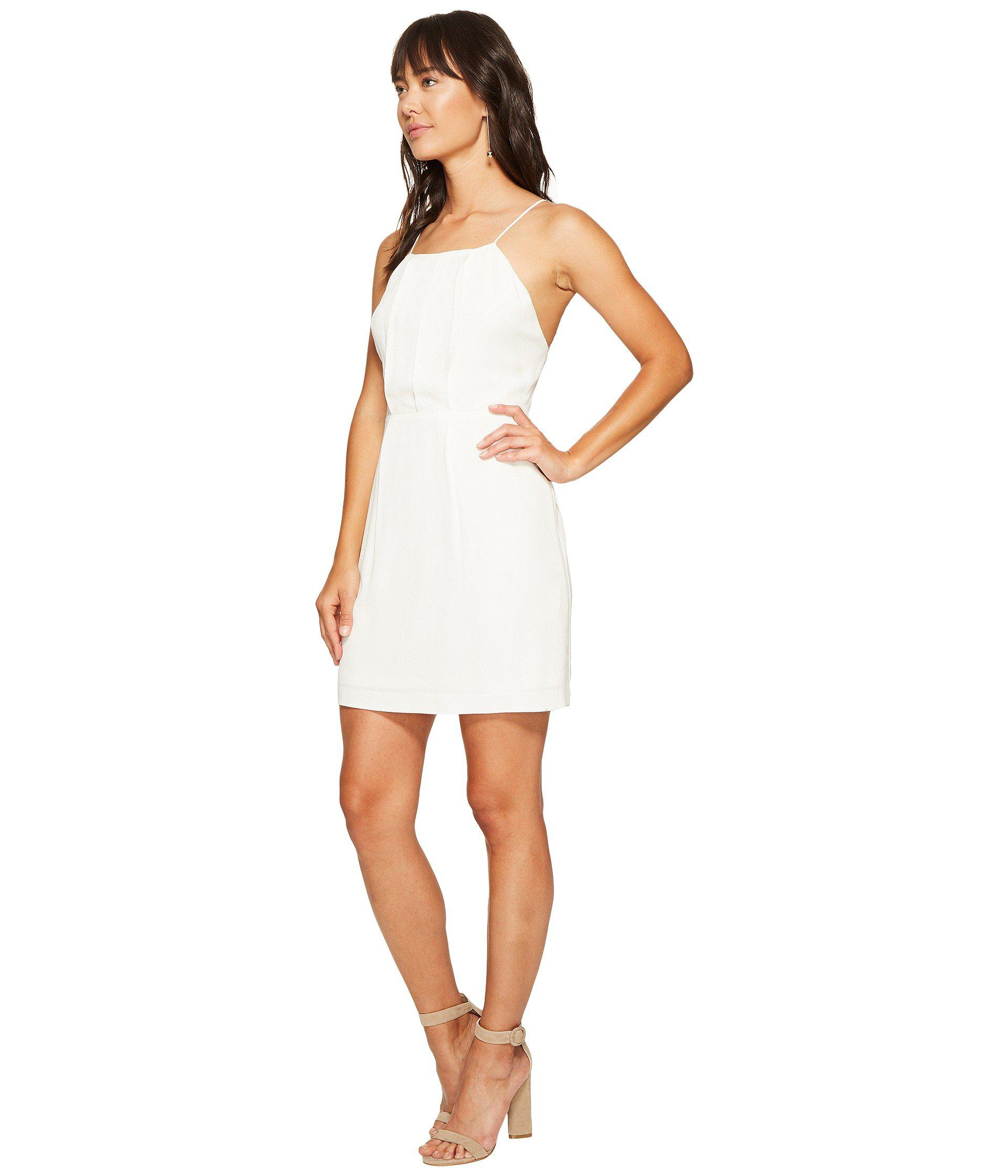 e689a13f Kensie Texture Crepe Dress With Lace Back Ks6k7993 in White - Lyst