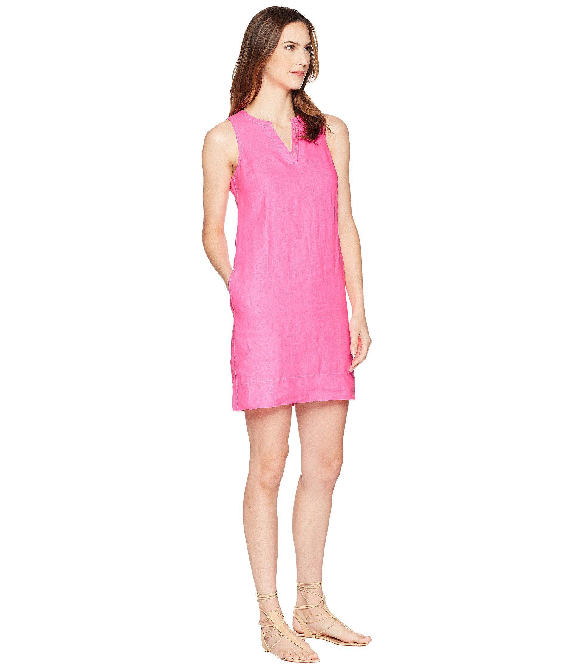 49d8aafc58 Tommy Bahama - Pink Seaglass Linen Shift Dress - Lyst. View fullscreen