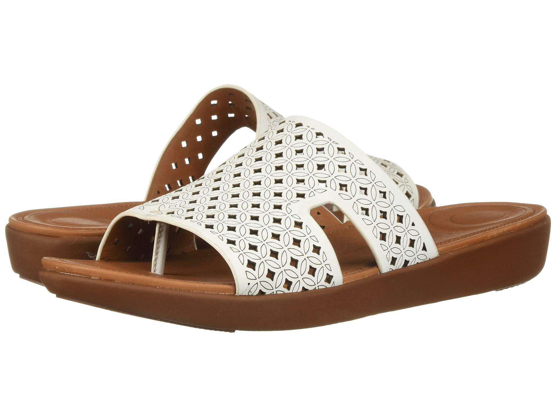 c1f09f4e5 Fitflop - Brown H-bar Slide Sandals - Latticed Leather - Lyst. View  fullscreen