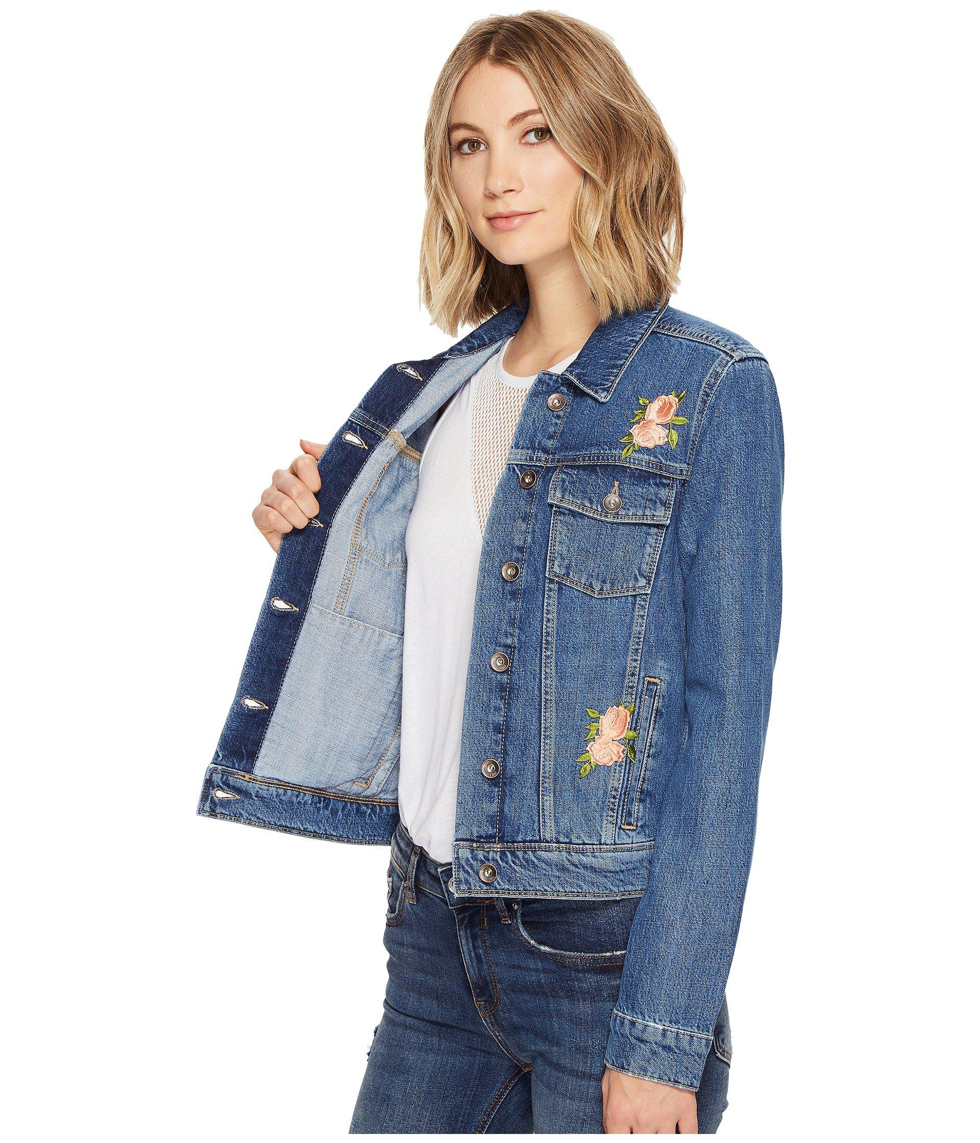 36e6c1656593 PAIGE Rowan Jacket in Blue - Lyst