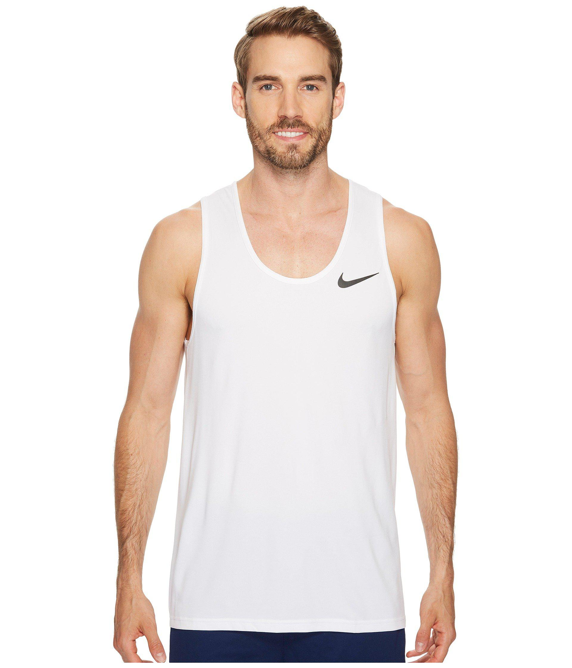 cc09406715f24 Lyst - Nike Breathe Training Tank in White for Men - Save 32%