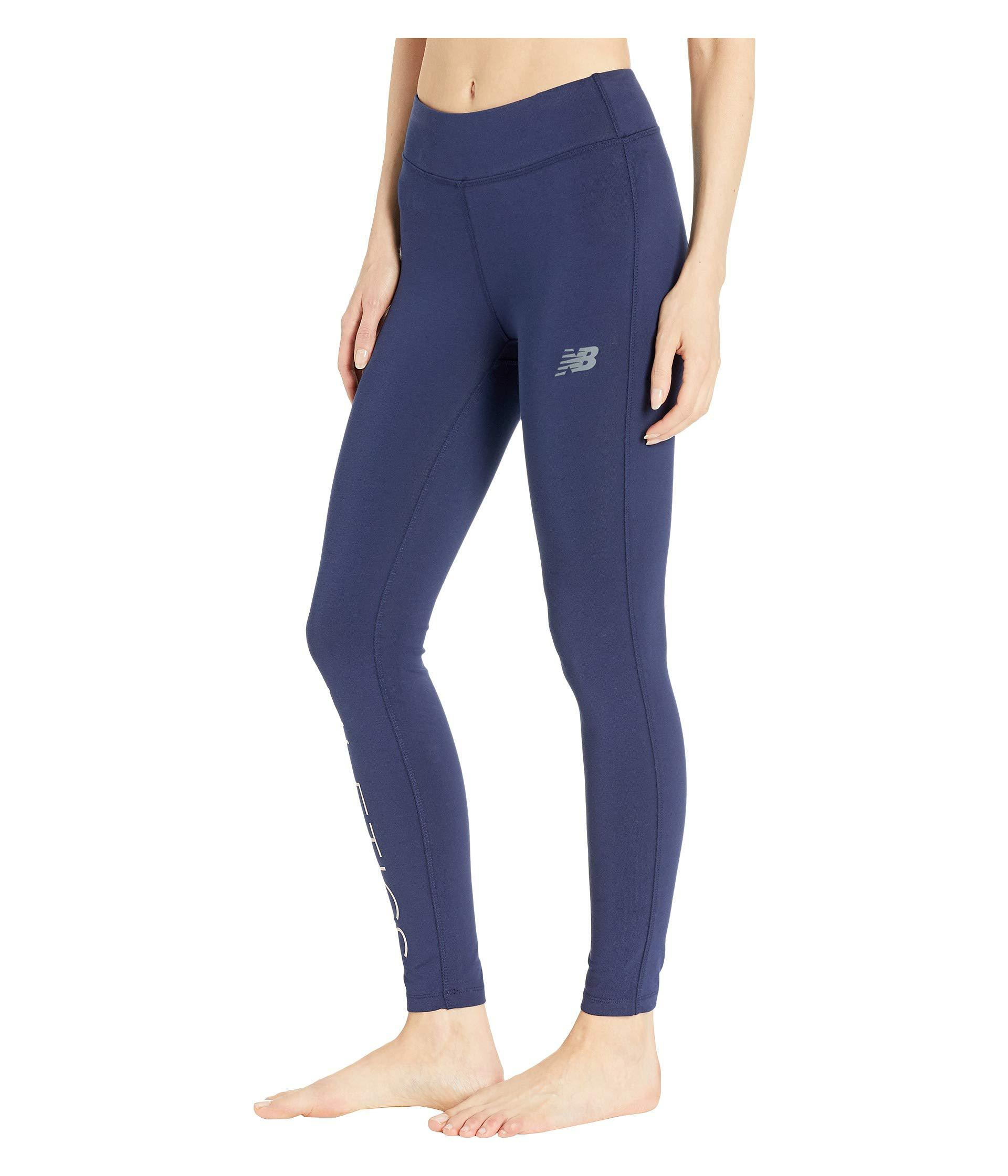 af3adc30d772c Lyst - New Balance Athletics Leggings in Blue