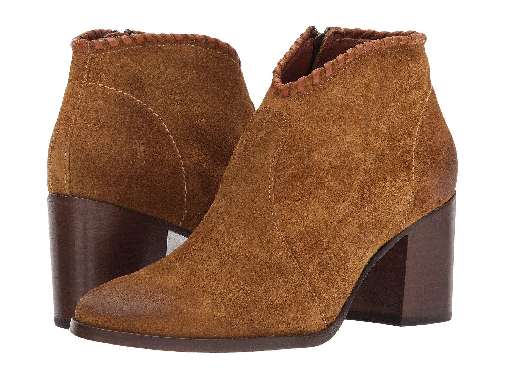 2e673cf8dd Lyst - Frye Nora Whipstich Shootie Ankle Bootie in Brown - Save 67%