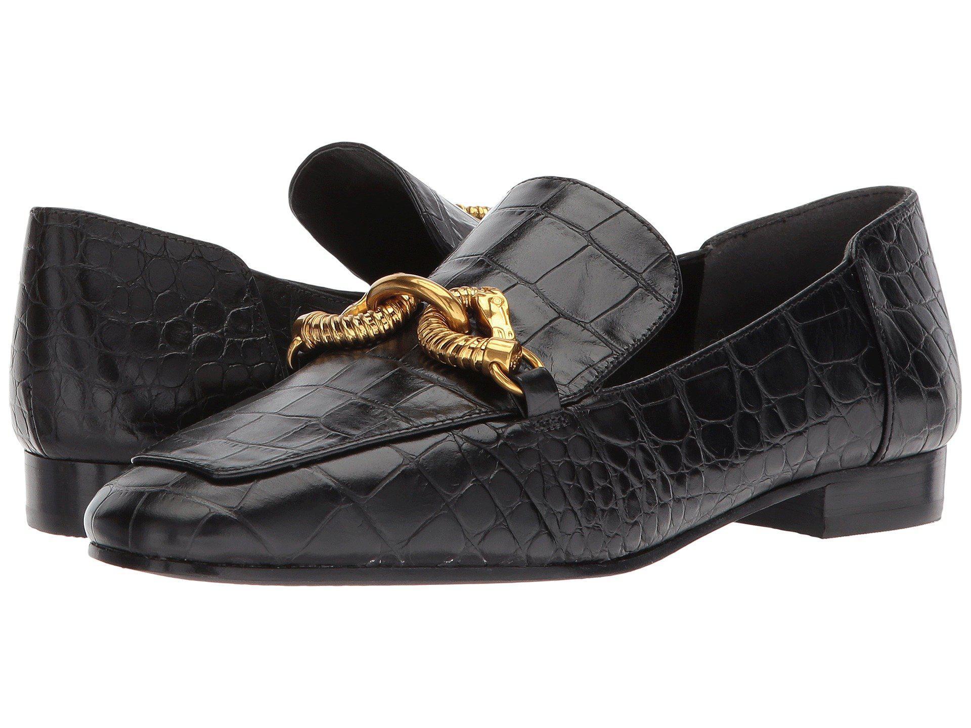 8dabe599e84 Lyst - Tory Burch Jessa Horse Head Loafer in Black