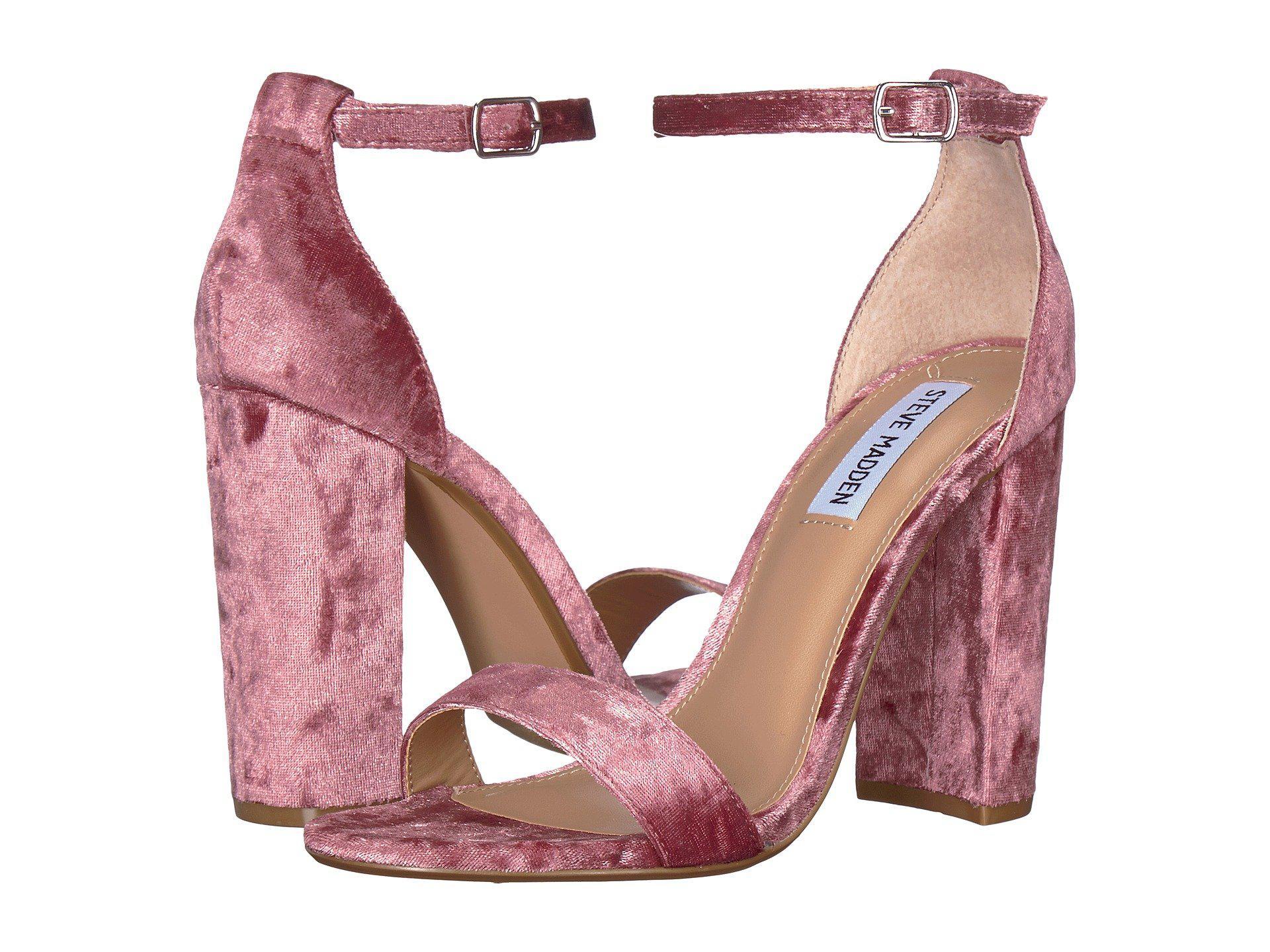 a124dfc1fae Steve Madden - Pink Carrson Heeled Sandal - Lyst. View fullscreen