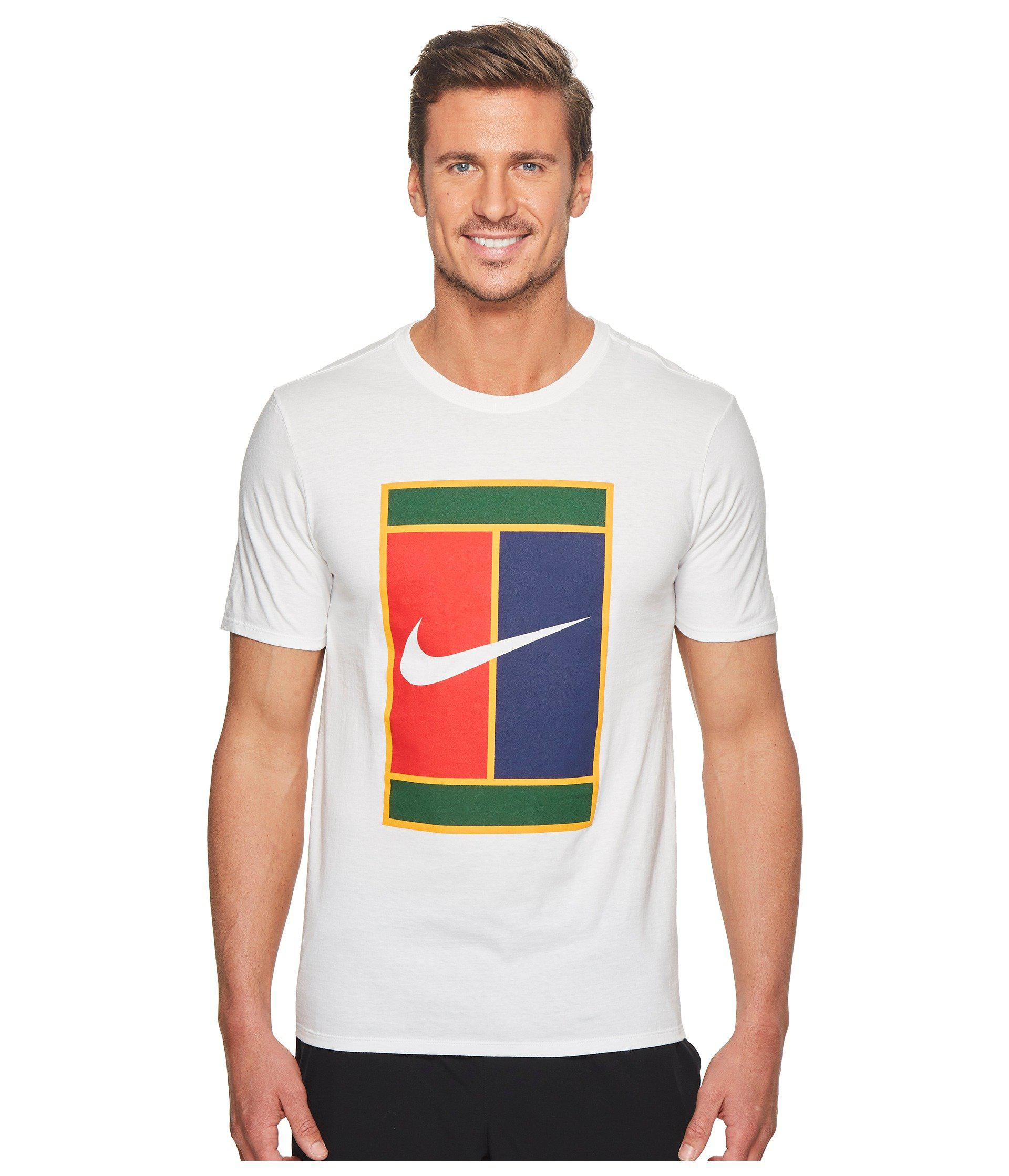 Lyst - Nike Court Heritage Logo Tennis Tee in White for Men b9b8268ebcd