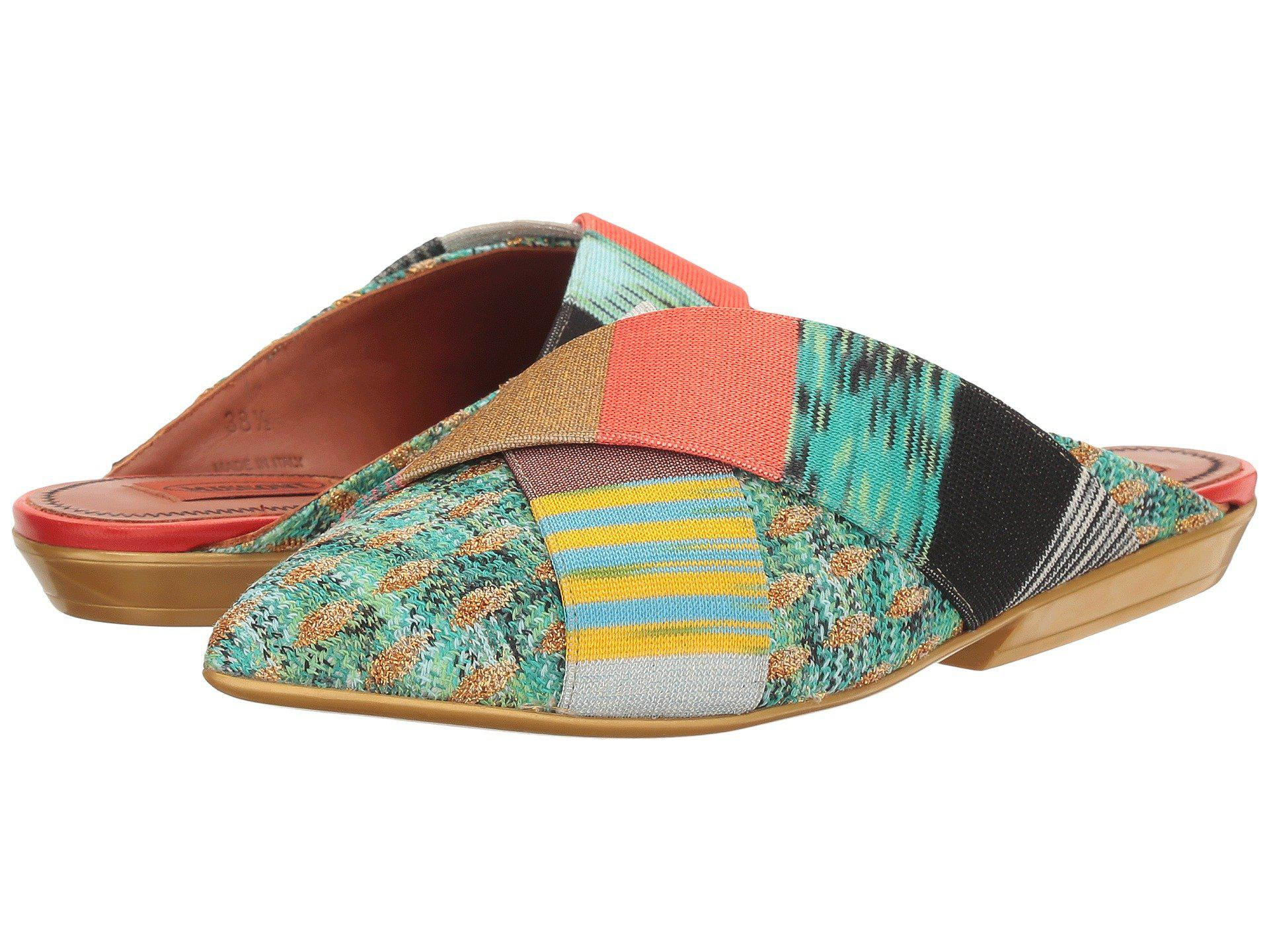 Missoni Pointed Patchwork Mule 2w9vRg0D