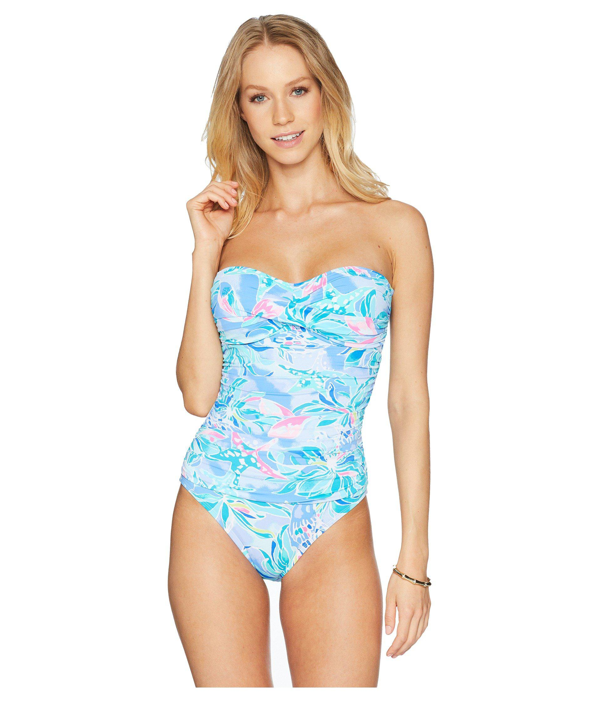 4606309bd1 Lilly Pulitzer Flamenco One-piece Swimsuit in Blue - Lyst