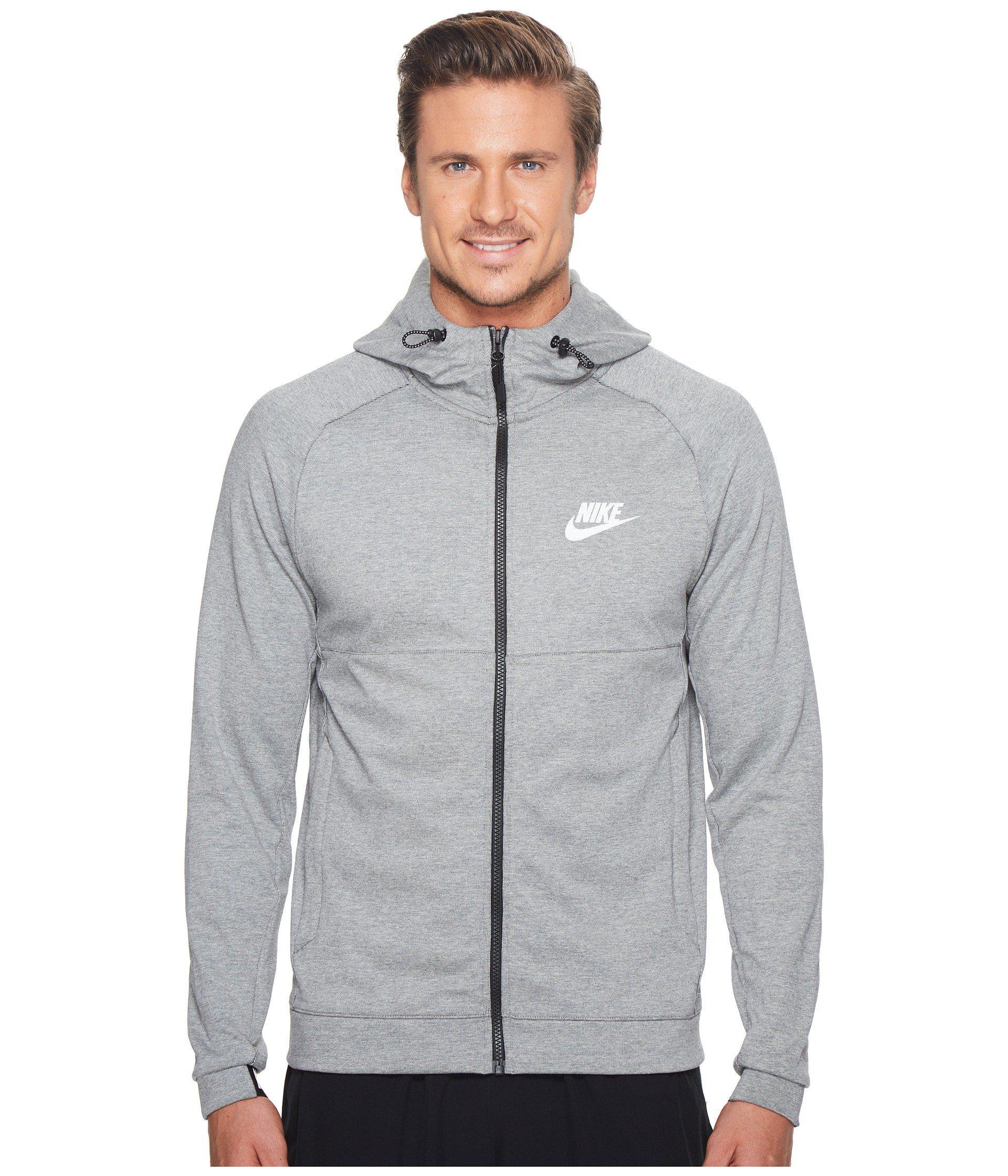 1a936898 Nike Sportswear Advance 15 Full Zip Hoodie in Gray for Men - Lyst